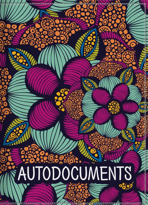 Обложка для автодокументов женская КвикДекор, цвет: мультиколор. DC-17-0077-1-2 квикдекор старый канал в лесу вар 1 ap 00569 15651 v1 9060