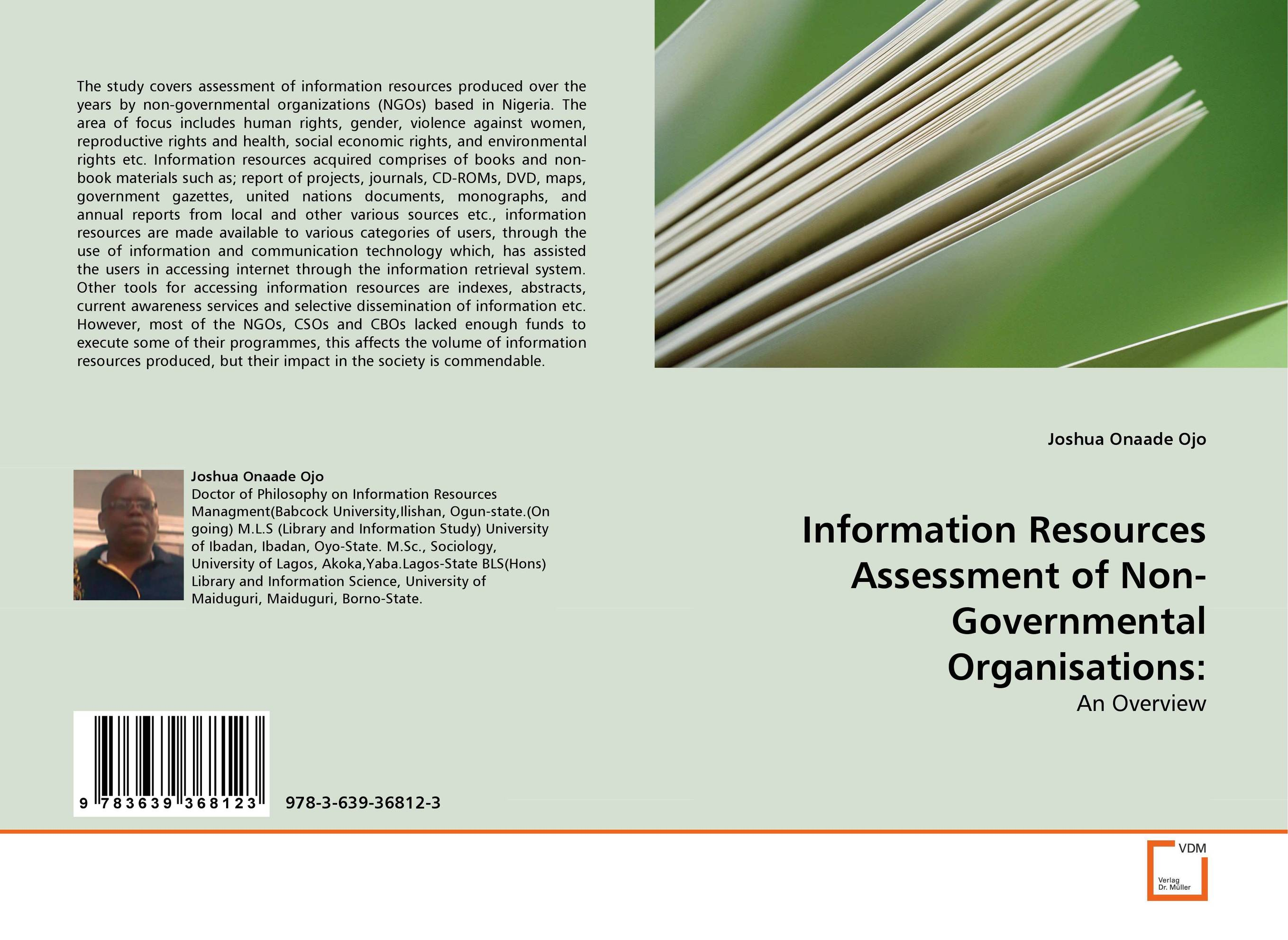 Information Resources Assessment of Non-Governmental Organisations: the challenges experienced by non governmental organisations