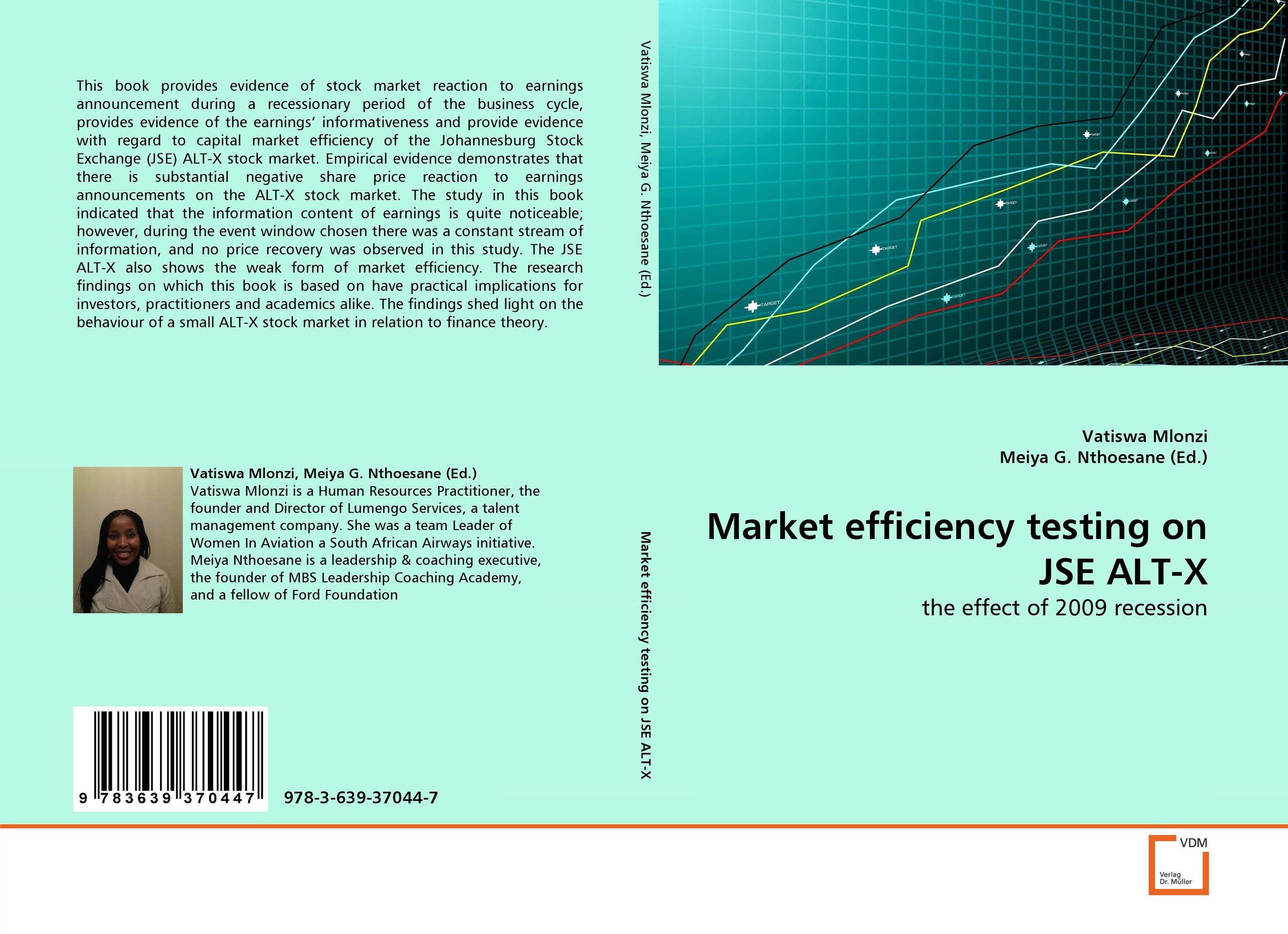 test of market efficiency The purpose of this study is to test the weak form efficient market hypothesis by analyzing the effects of year-end selling/buying and the january effect on stock price.