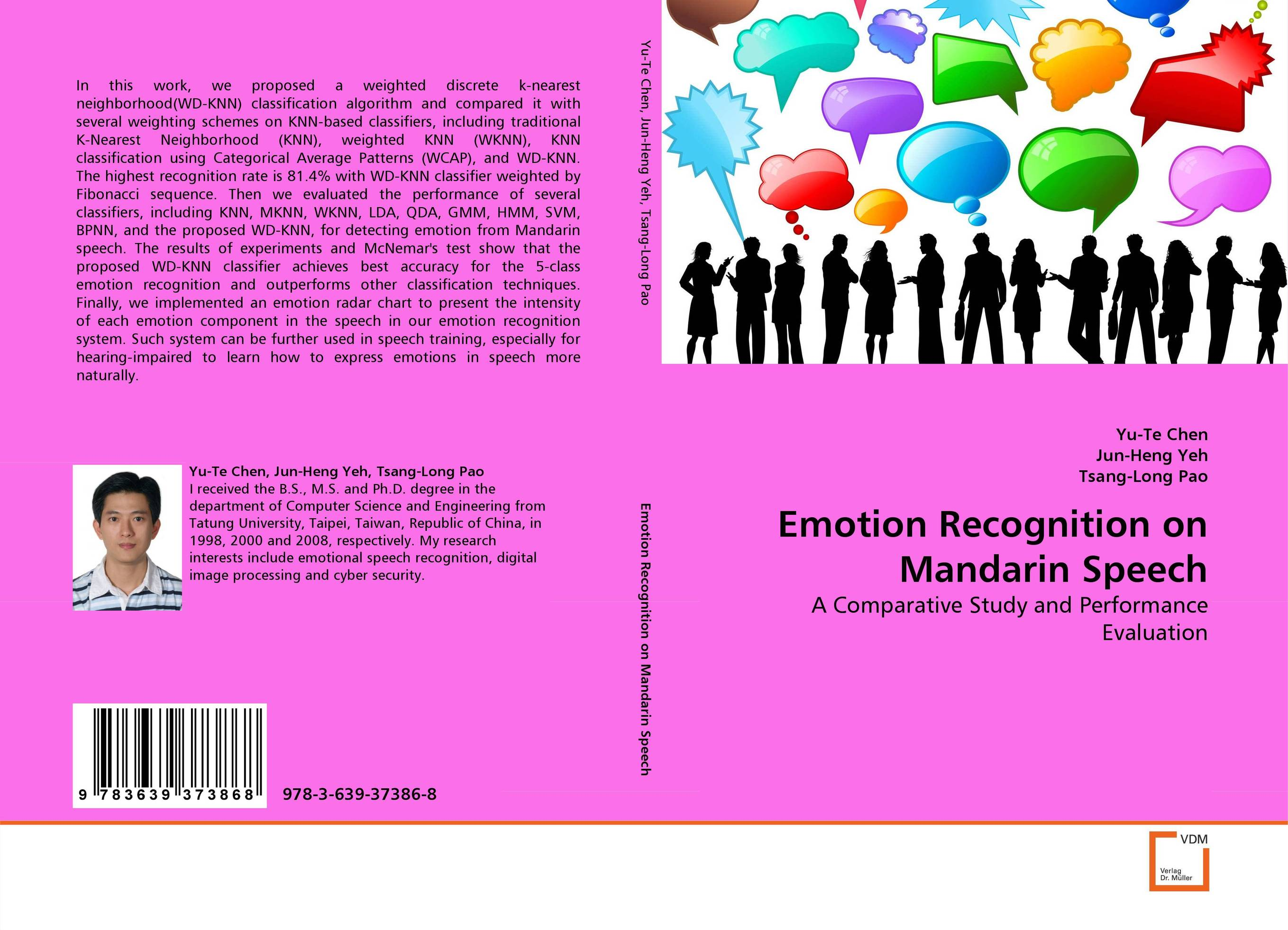 Emotion Recognition on Mandarin Speech exponentially weighted moving average control chart