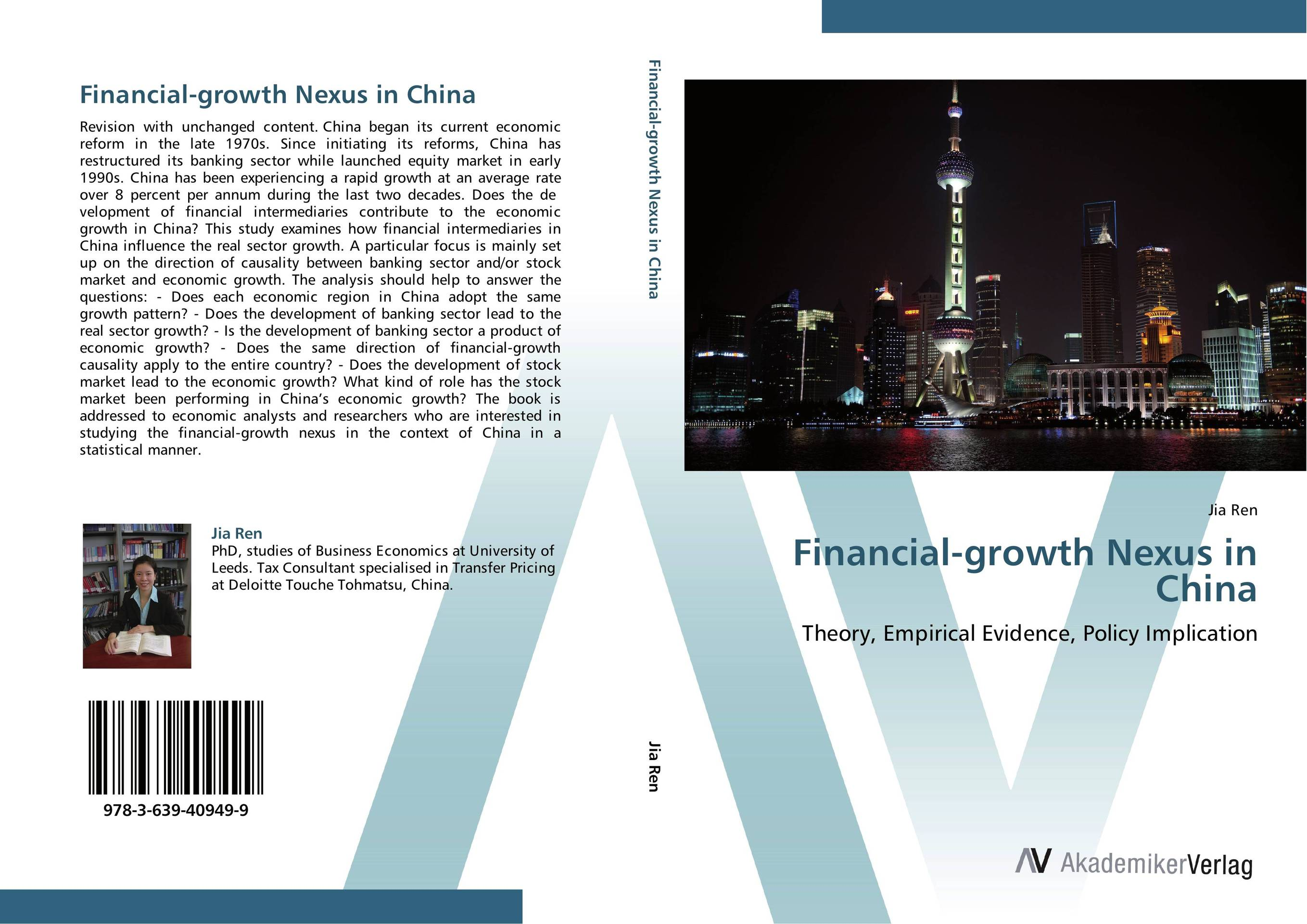 Financial-growth Nexus in China economic reforms and growth of insurance sector in india
