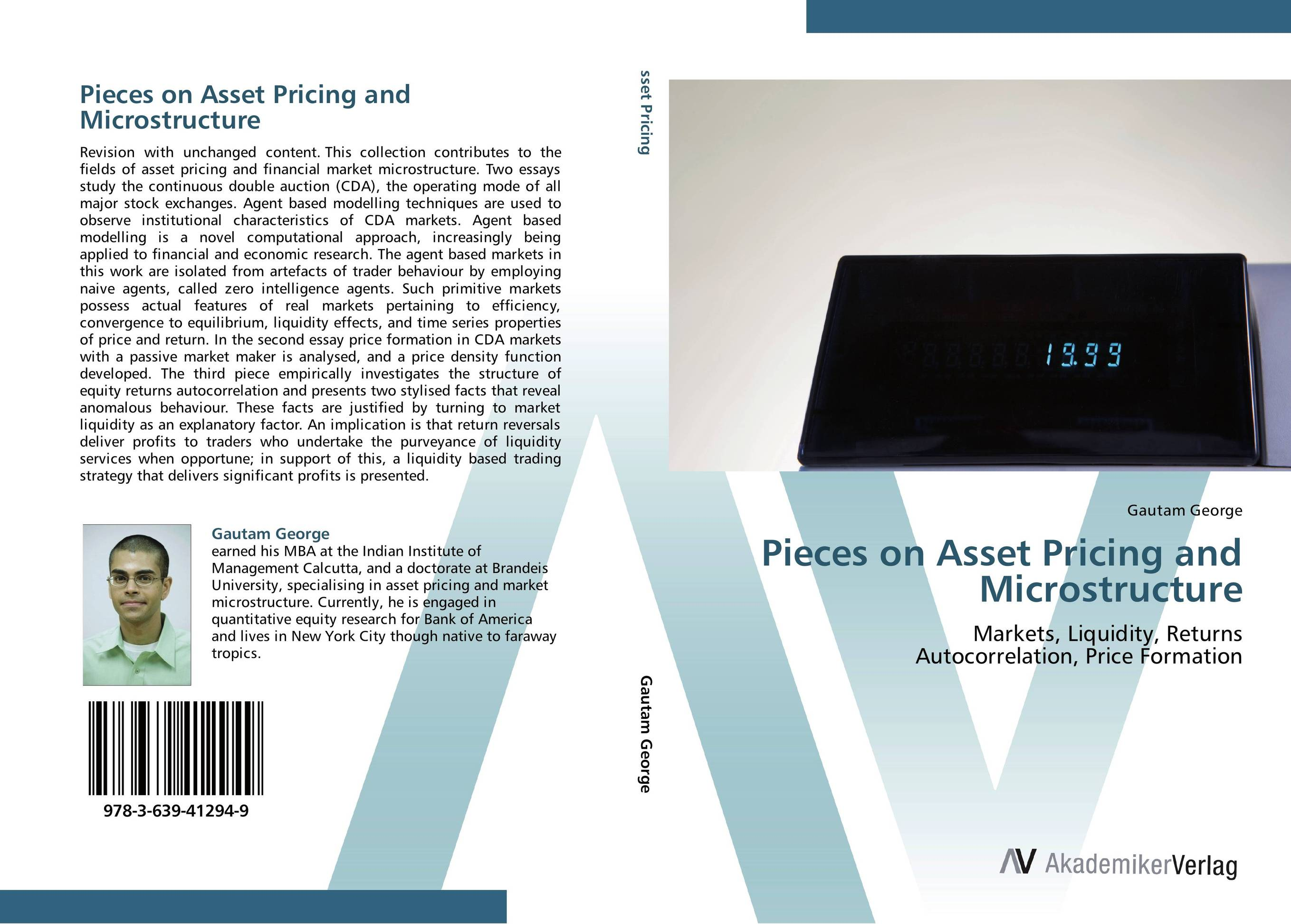Pieces on Asset Pricing and Microstructure