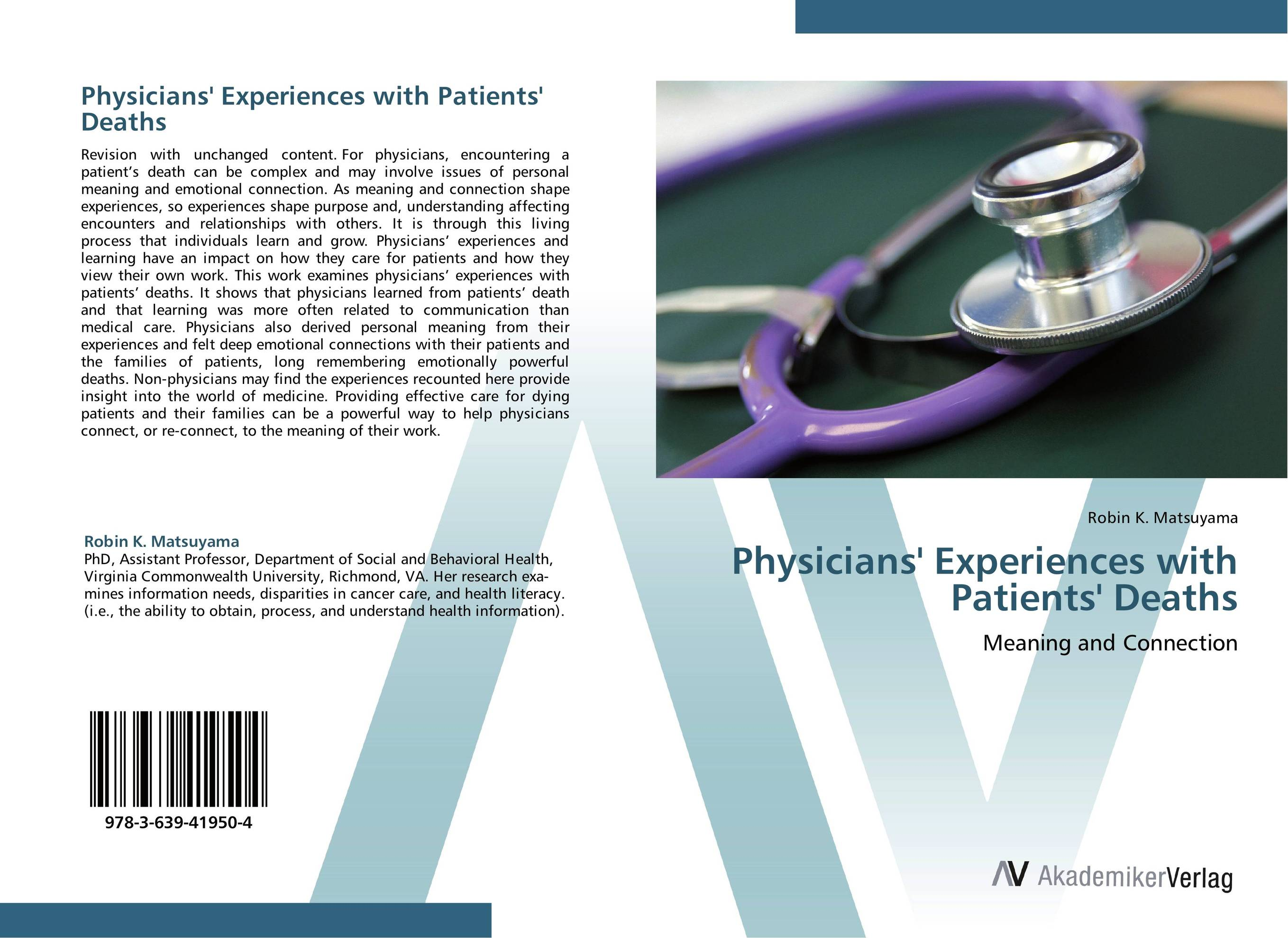 Physicians' Experiences with Patients' Deaths peter lockhart b oral medicine and medically complex patients