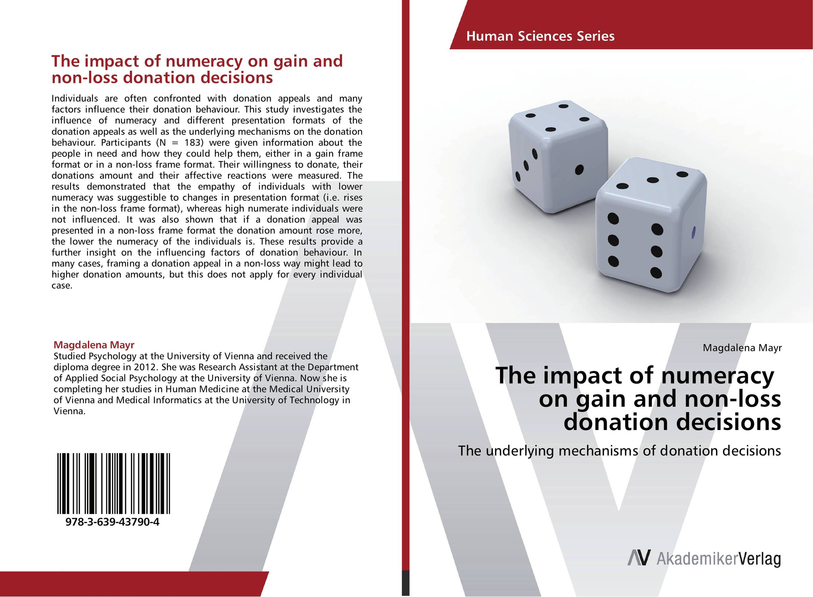 The impact of numeracy on gain and non-loss donation decisions