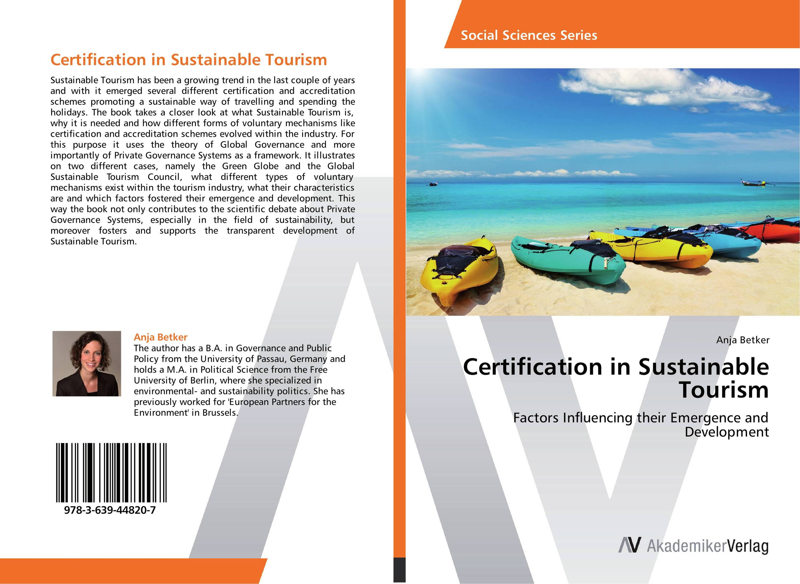Certification in Sustainable Tourism paul r mcgraw legislated hotel levies and tourism governance