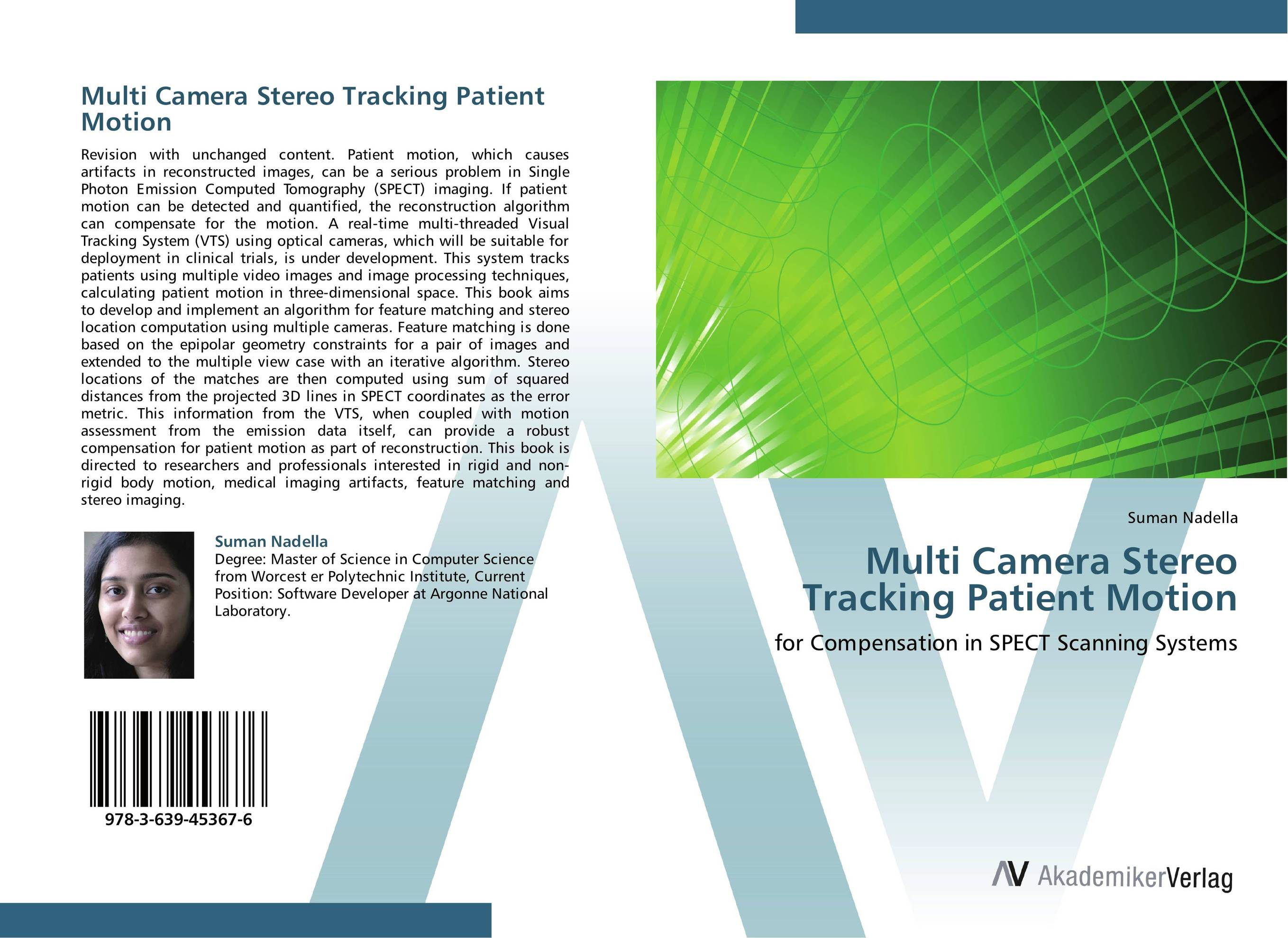 Multi Camera Stereo Tracking Patient Motion performance evaluation of disparity for stereo images