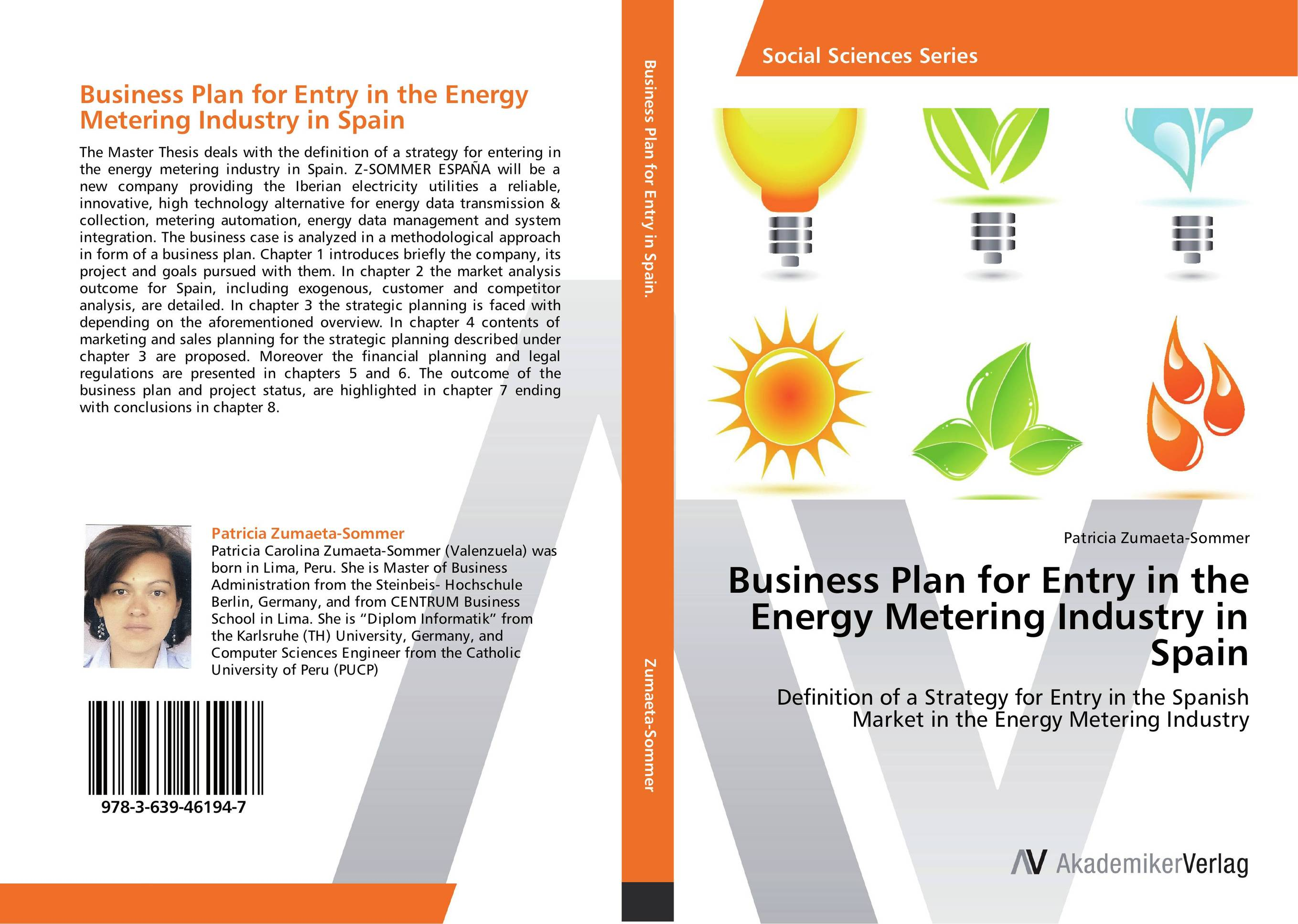 Business Plan for Entry in the Energy Metering Industry in Spain business plan for a start up of an information brokering company