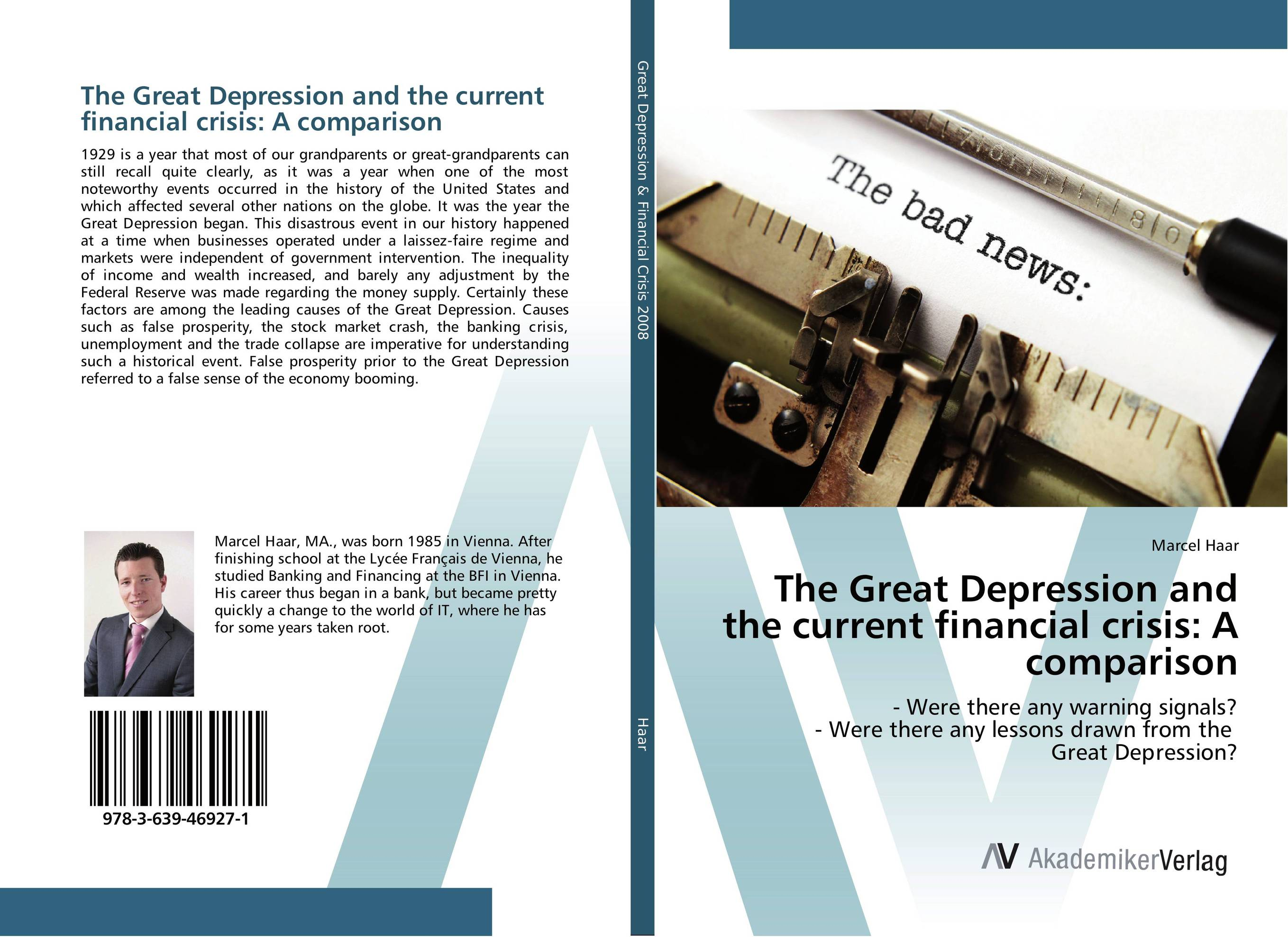 The Great Depression and the current financial crisis: A comparison richard duncan the new depression the breakdown of the paper money economy