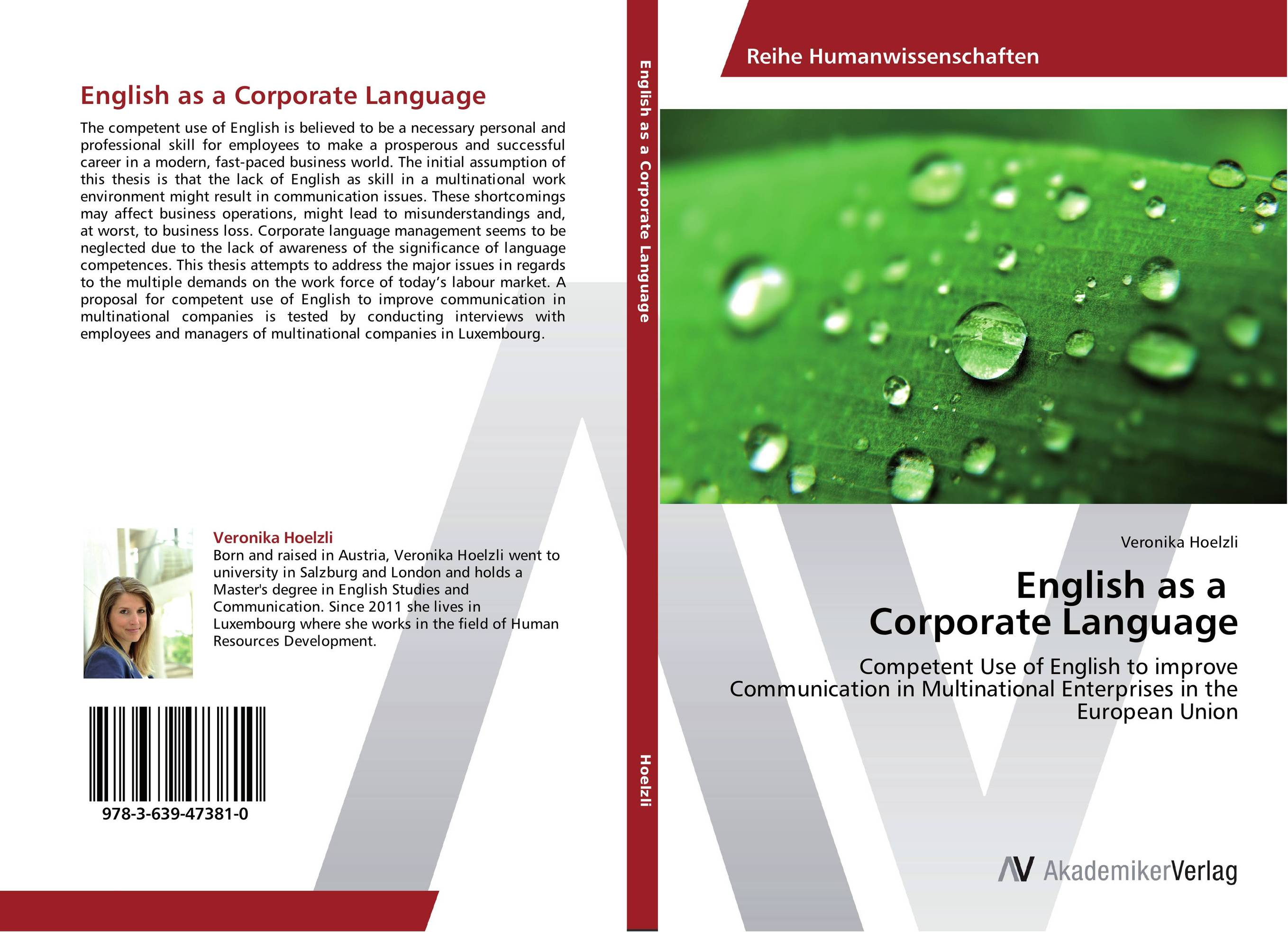 English as a Corporate Language english vocabulary in use advanced