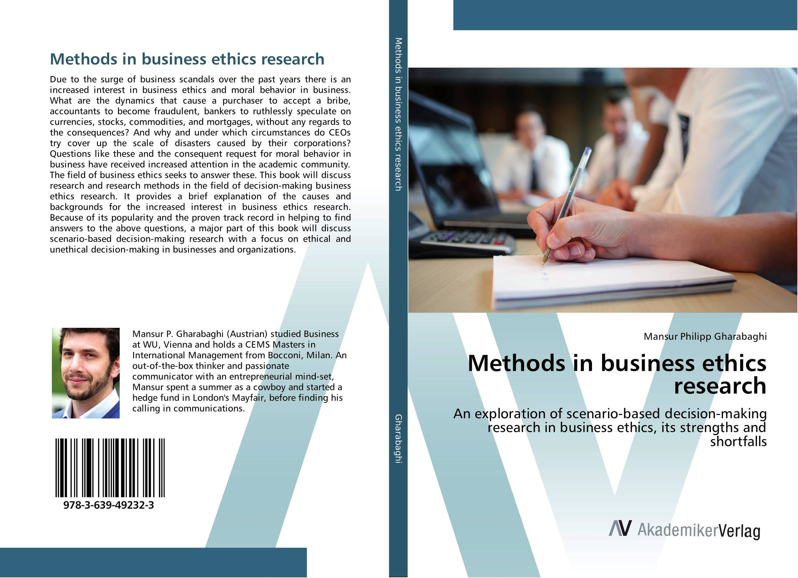 Methods in business ethics research benaissa lamroubal bielefeld