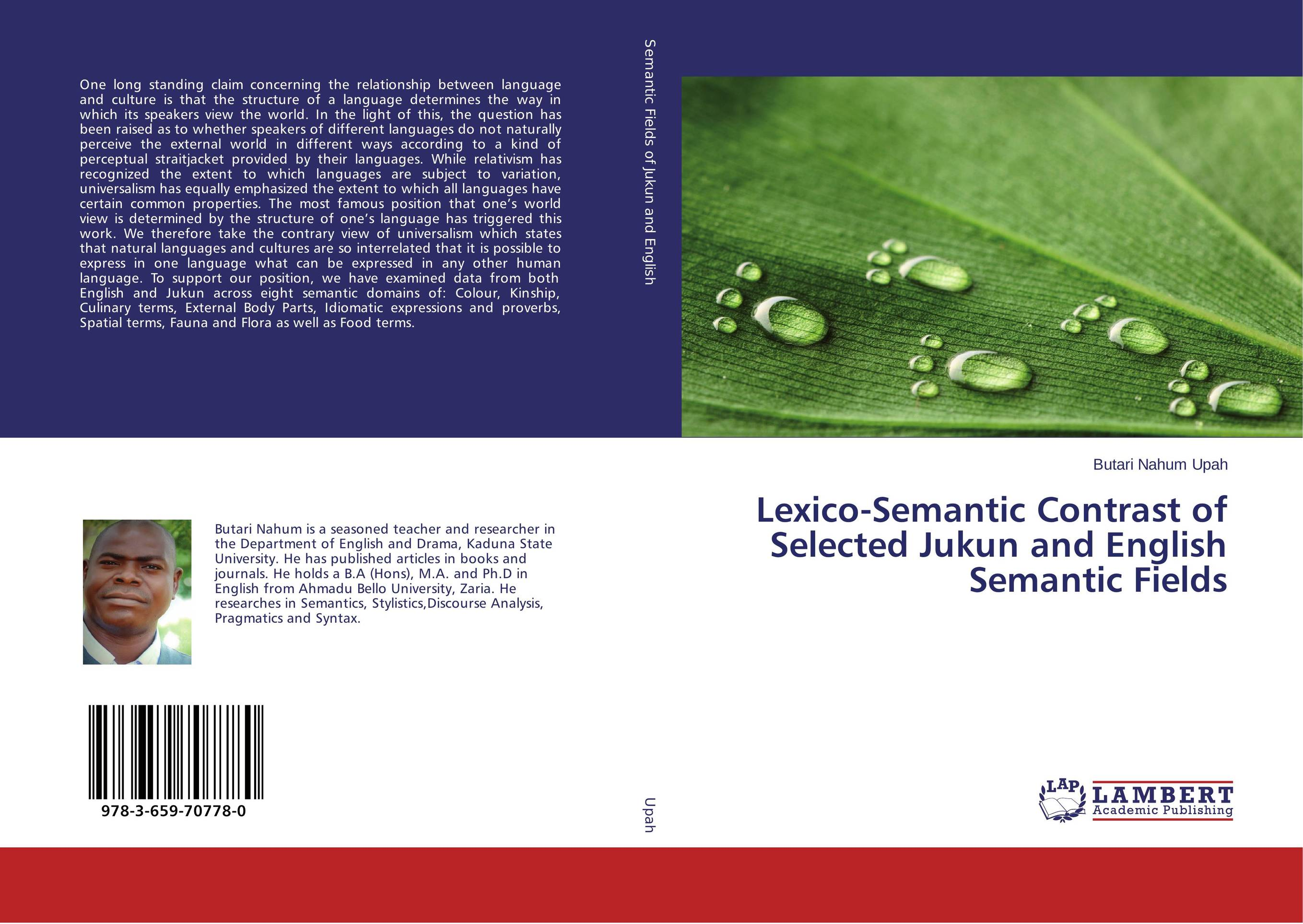 Lexico-Semantic Contrast of Selected Jukun and English Semantic Fields introduction to the languages of the world