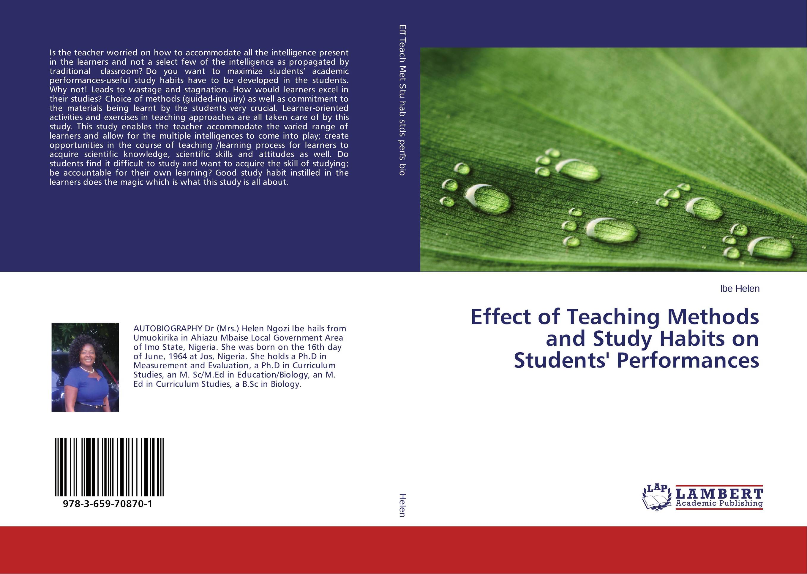 Effect of Teaching Methods and Study Habits on Students' Performances stanley pogrow teaching content outrageously how to captivate all students and accelerate learning grades 4 12