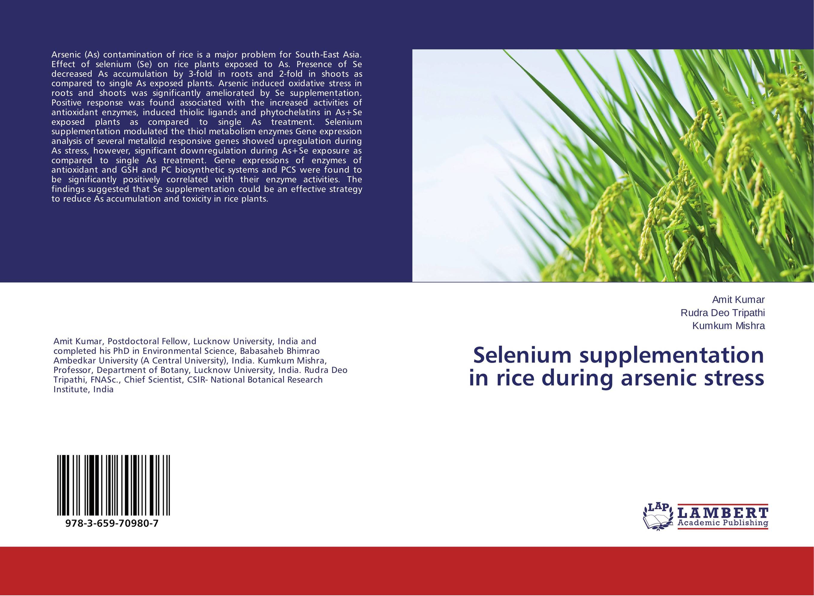Selenium supplementation in rice during arsenic stress the effect of stress factors on gene expression in higher plants