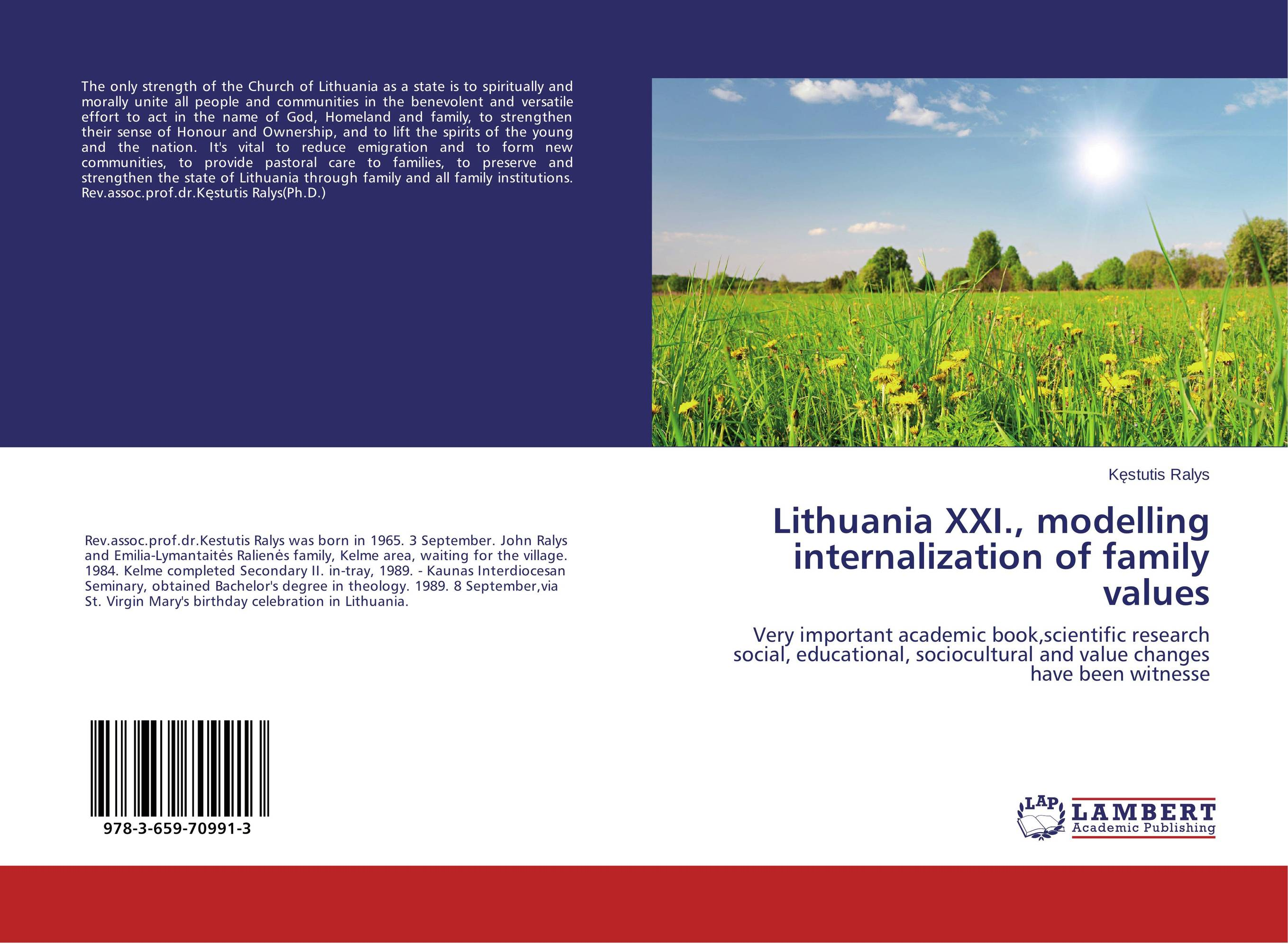 Lithuania XXI., modelling internalization of family values affair of state an