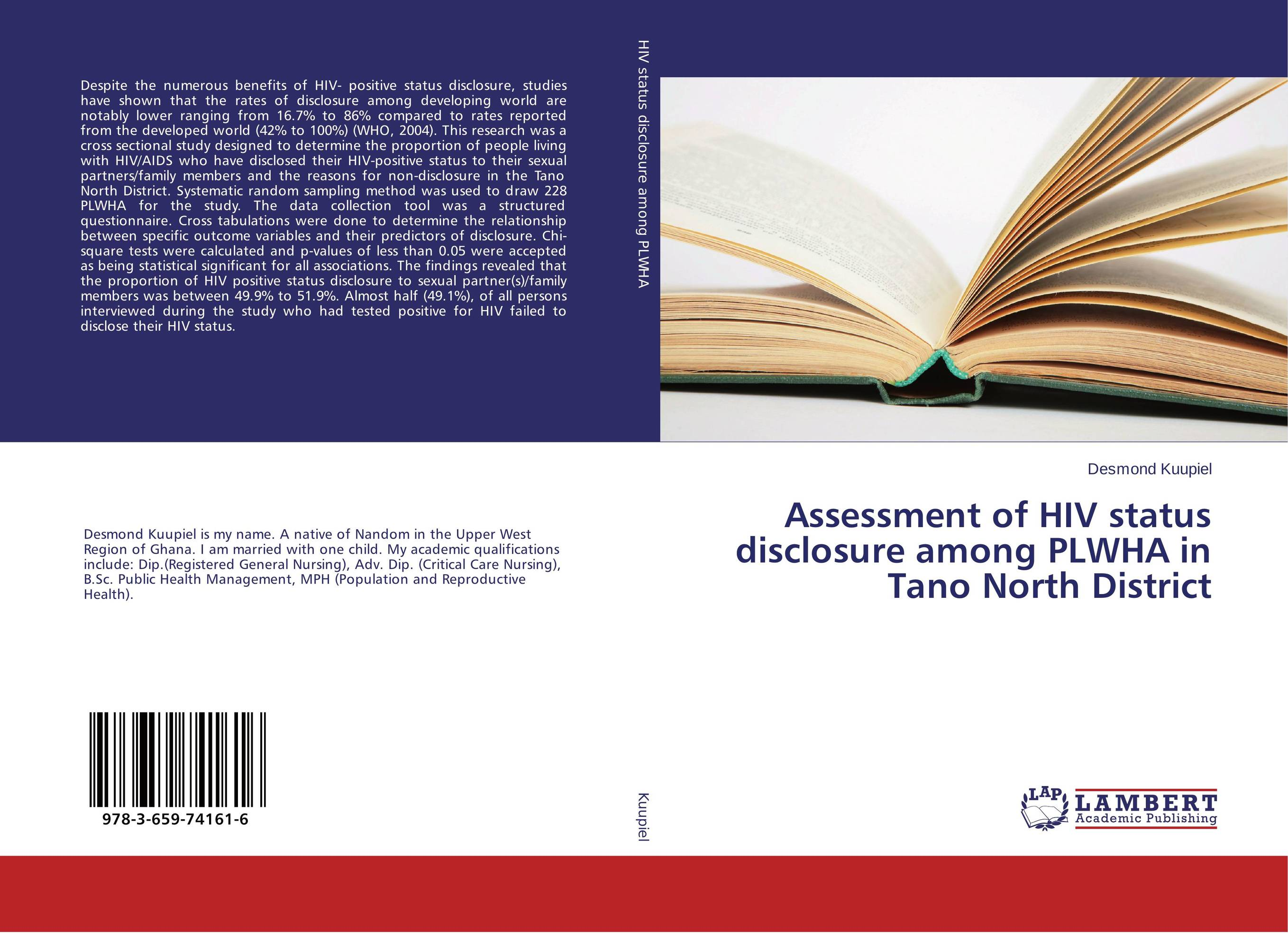 Assessment of HIV status disclosure among PLWHA in Tano North District