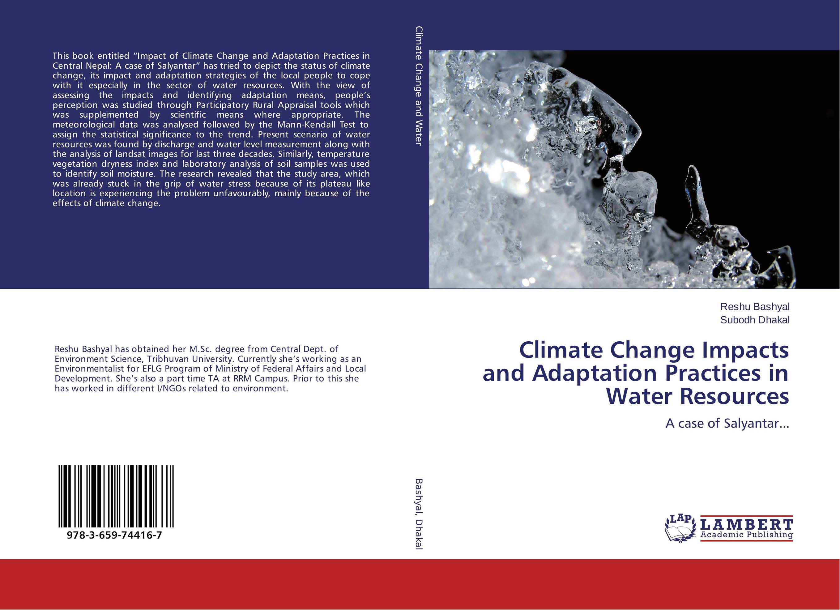 Climate Change Impacts and Adaptation Practices in Water Resources bride of the water god v 3