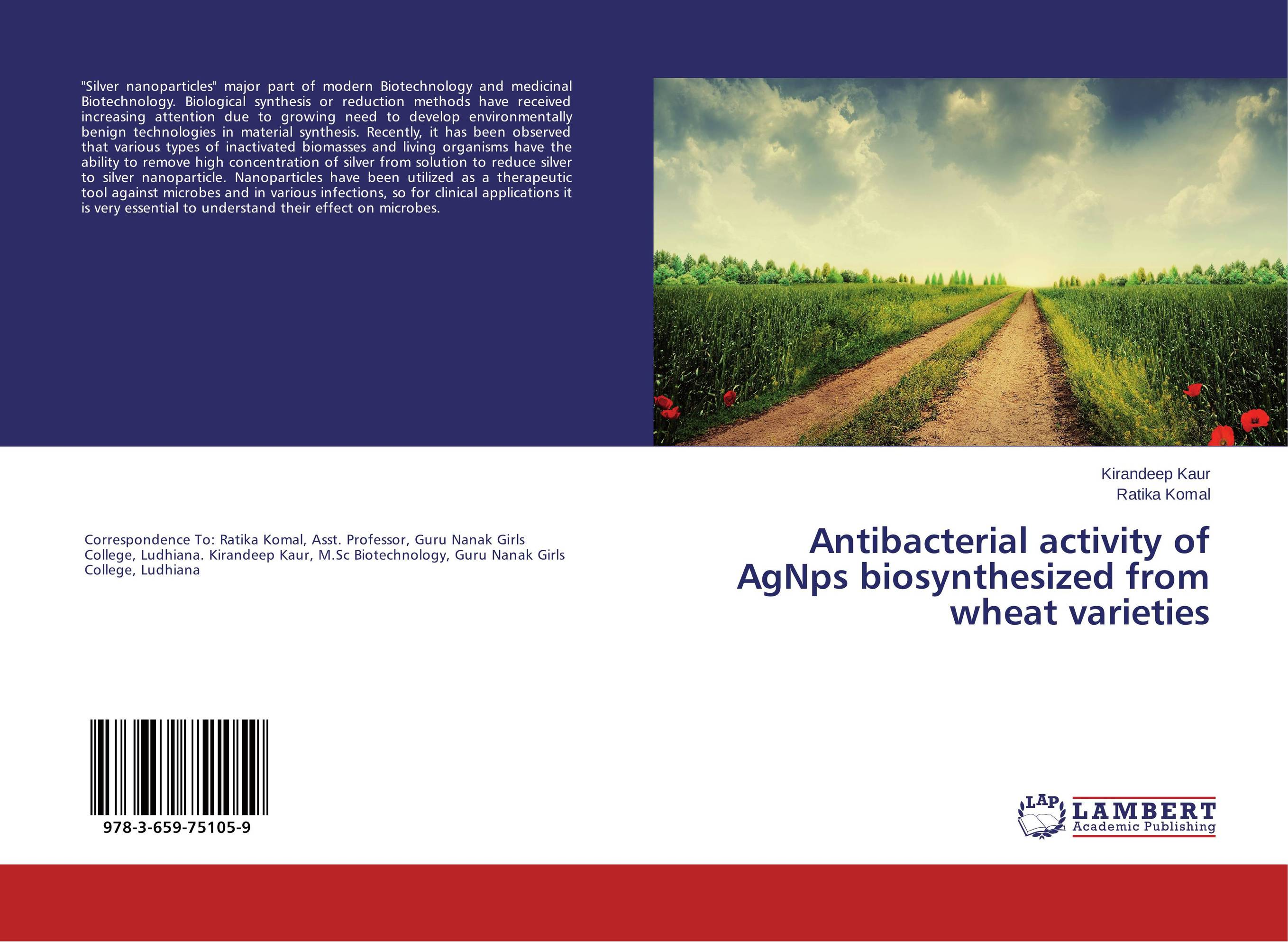 Antibacterial activity of AgNps biosynthesized from wheat varieties green synthesis of magnetite and silver nanoparticles