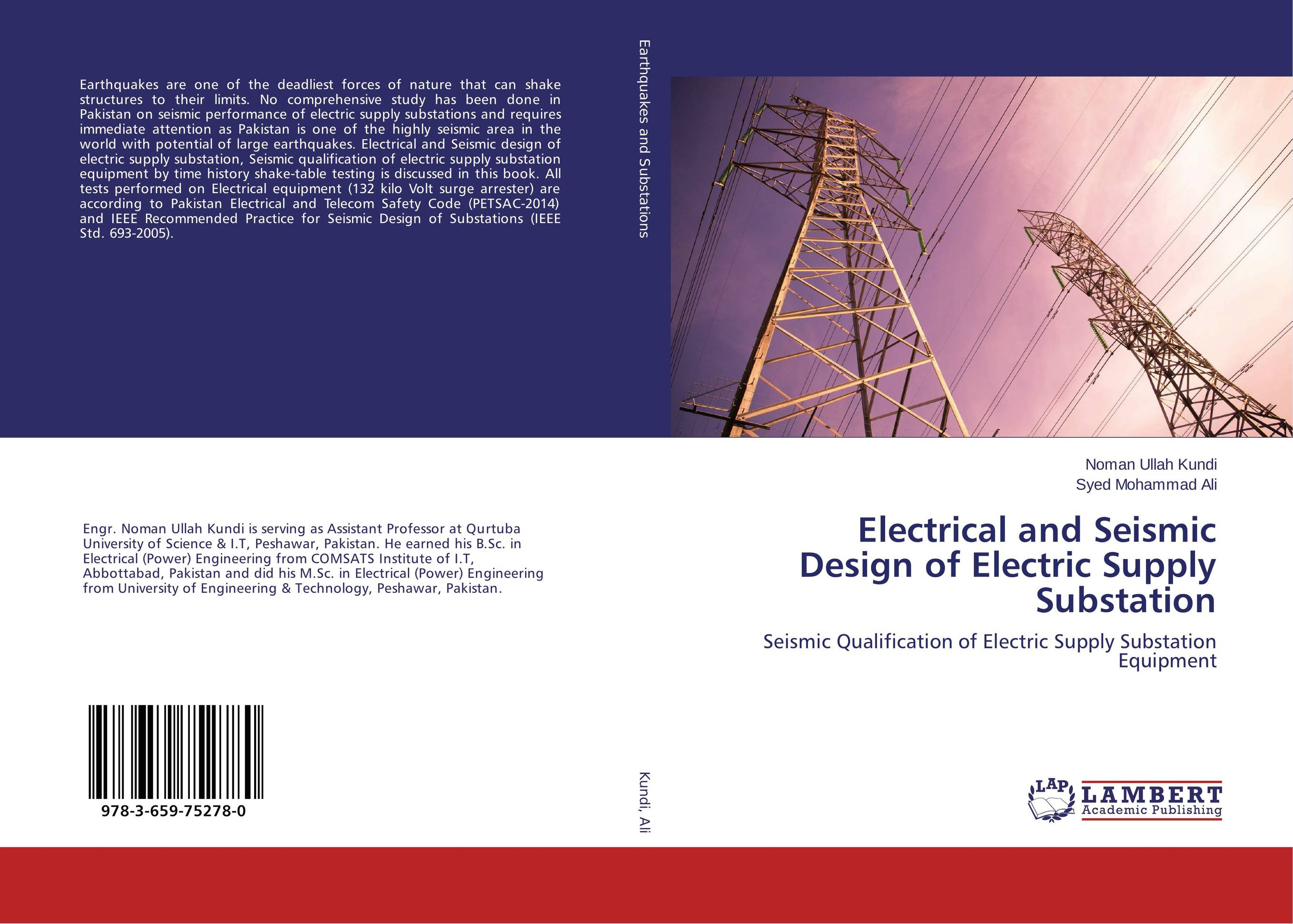 Electrical and Seismic Design of Electric Supply Substation composite structures design safety and innovation