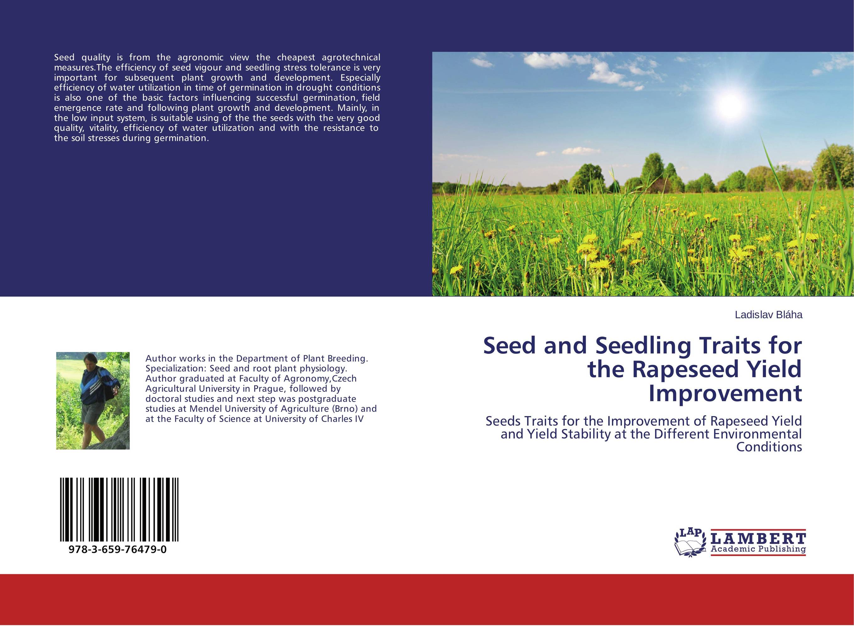 Seed and Seedling Traits for the Rapeseed Yield Improvement seed dormancy and germination
