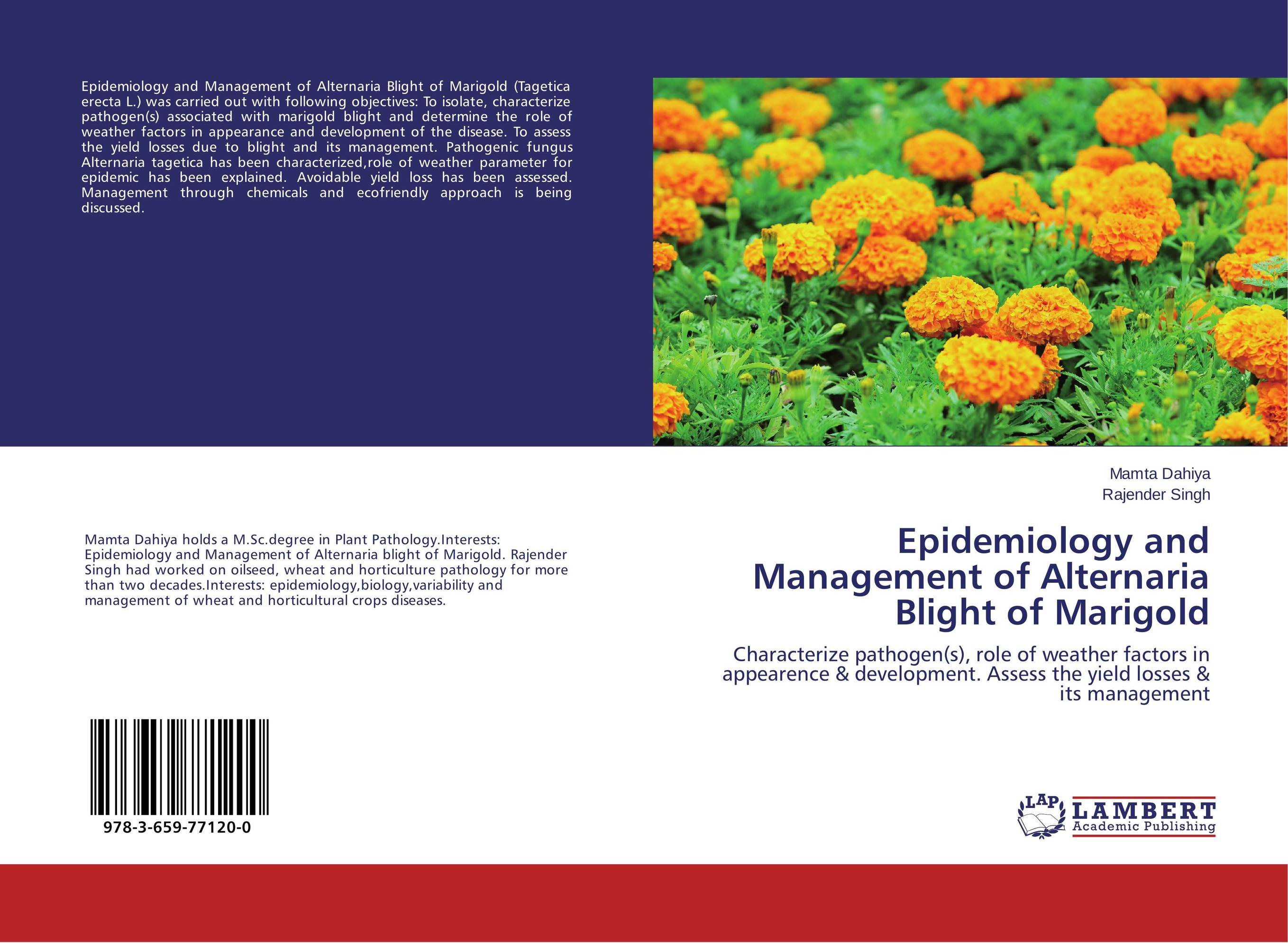 Epidemiology and Management of Alternaria Blight of Marigold fungicidal management of sheath blight of rice