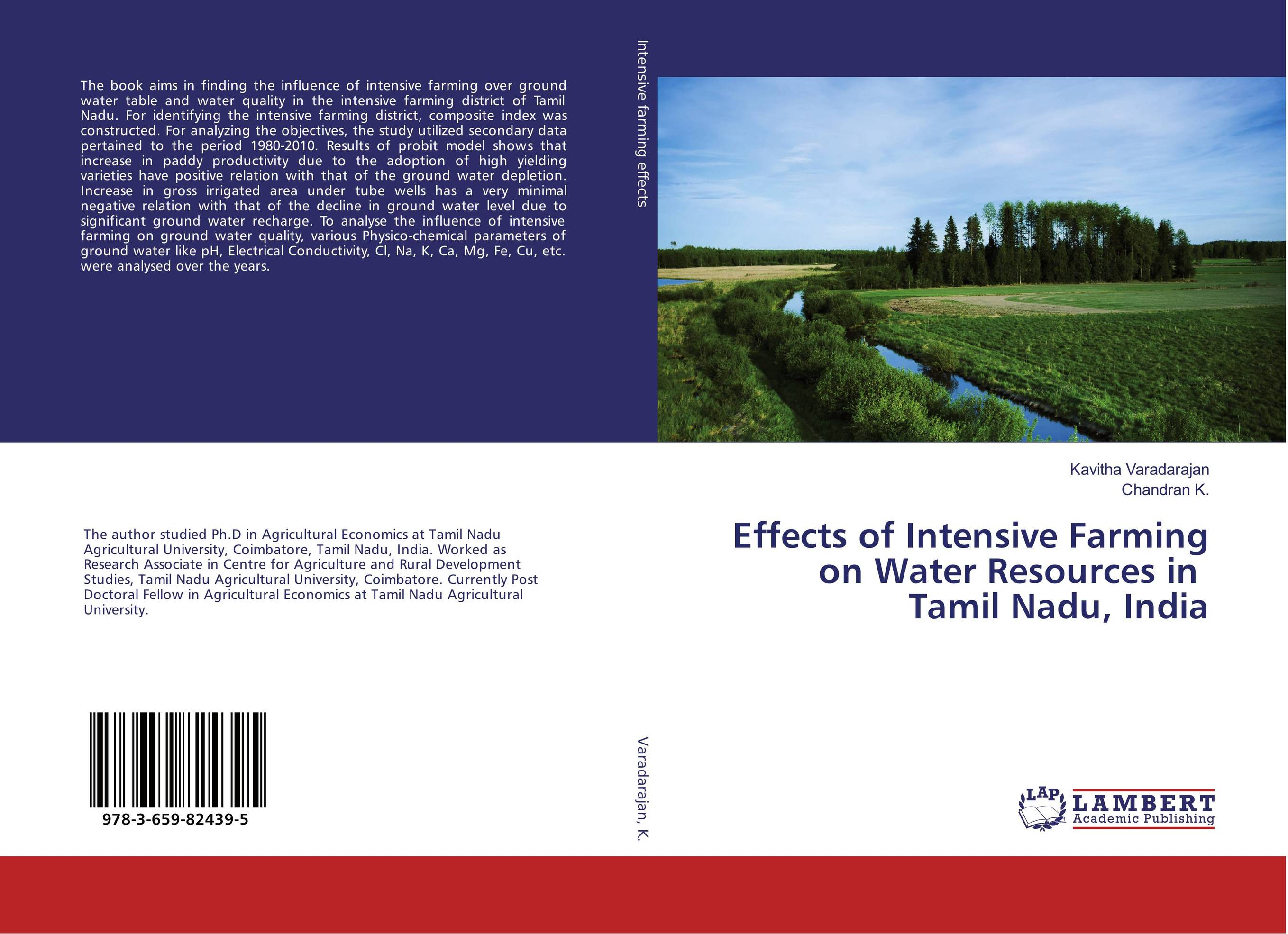 купить Effects of Intensive Farming on Water Resources in Tamil Nadu, India недорого