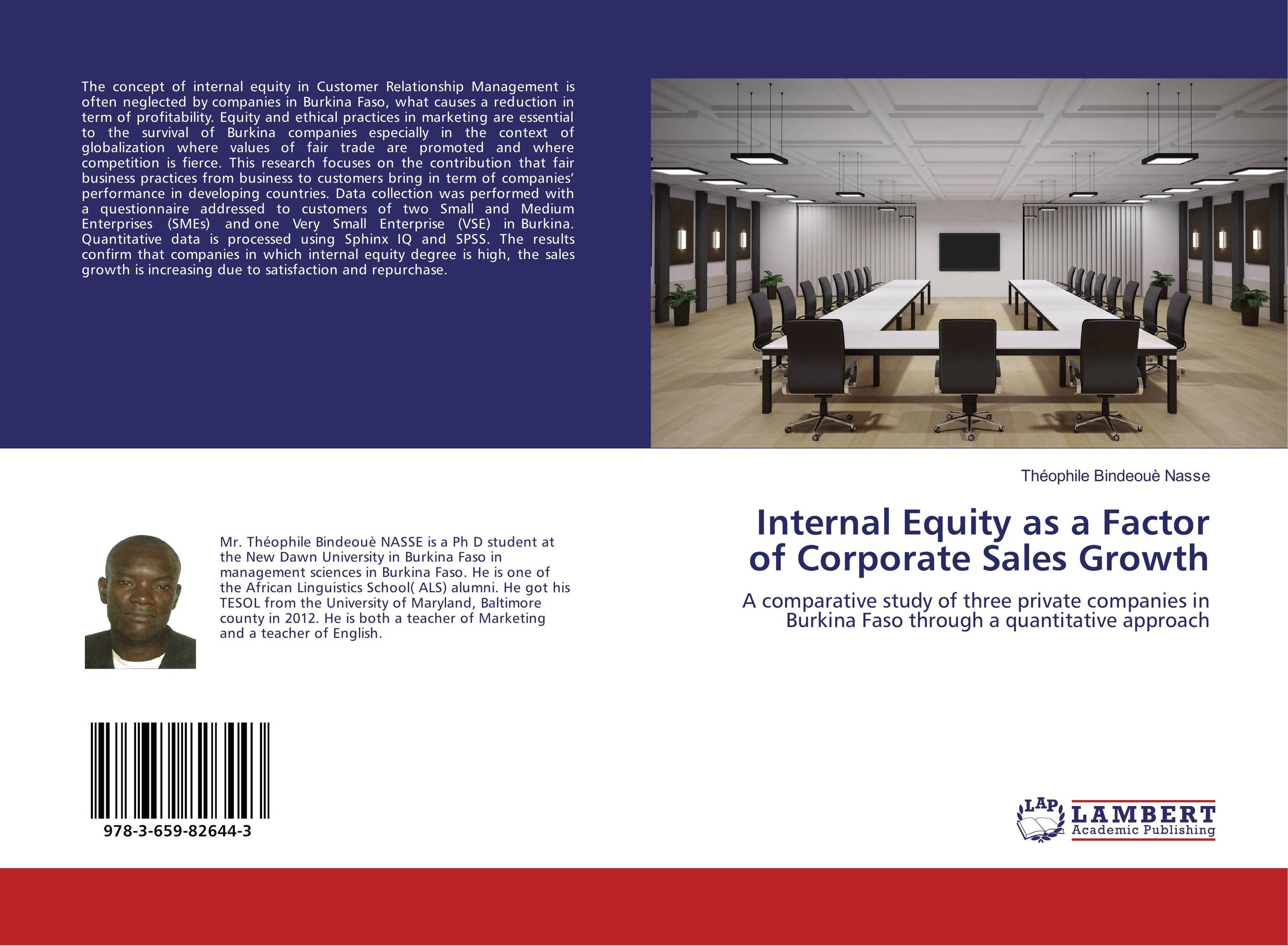 Internal Equity as a Factor of Corporate Sales Growth frank fabozzi j quantitative equity investing techniques and strategies