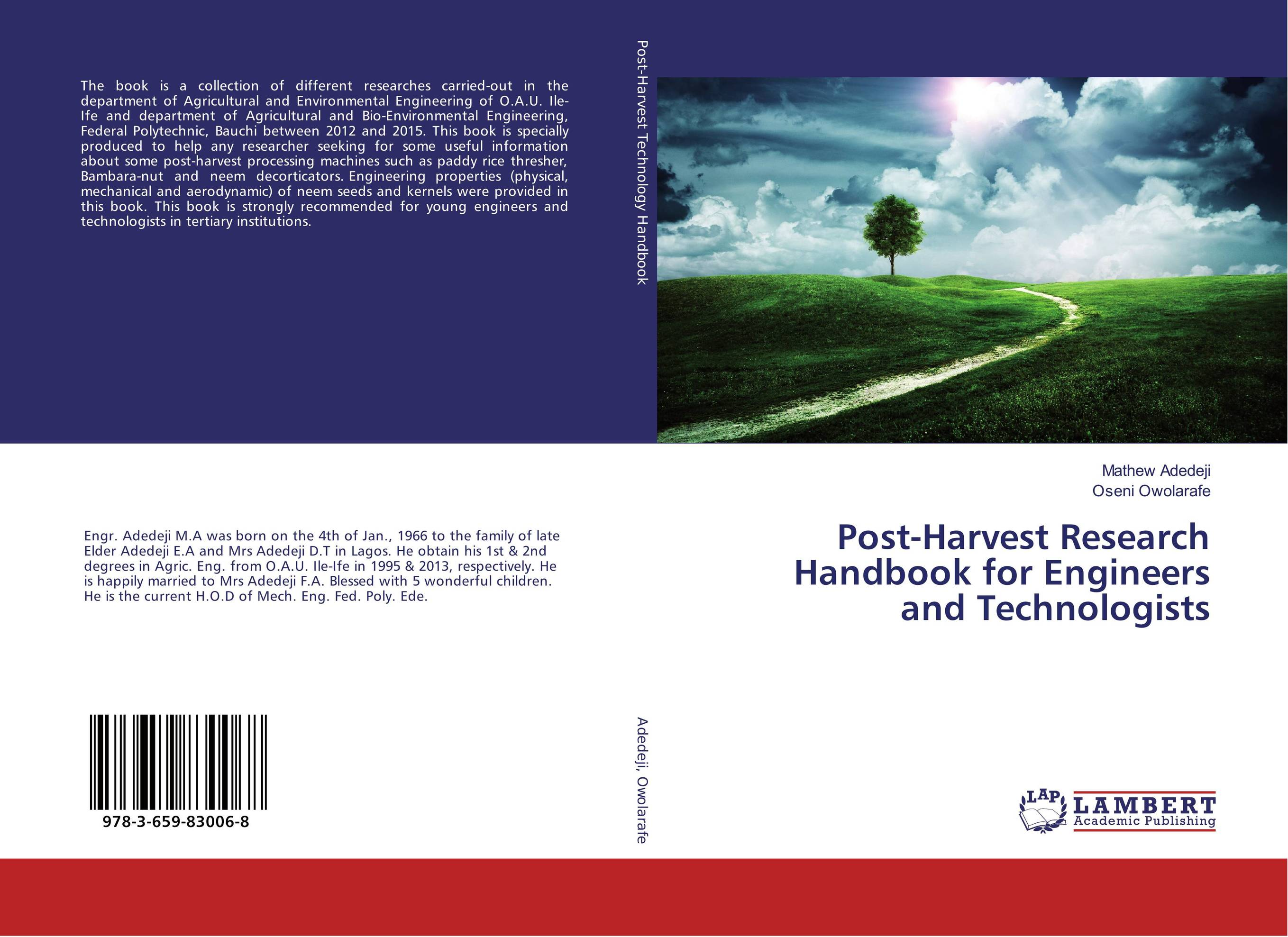 Post-Harvest Research Handbook for Engineers and Technologists handbook of the exhibition of napier relics and of books instruments and devices for facilitating calculation