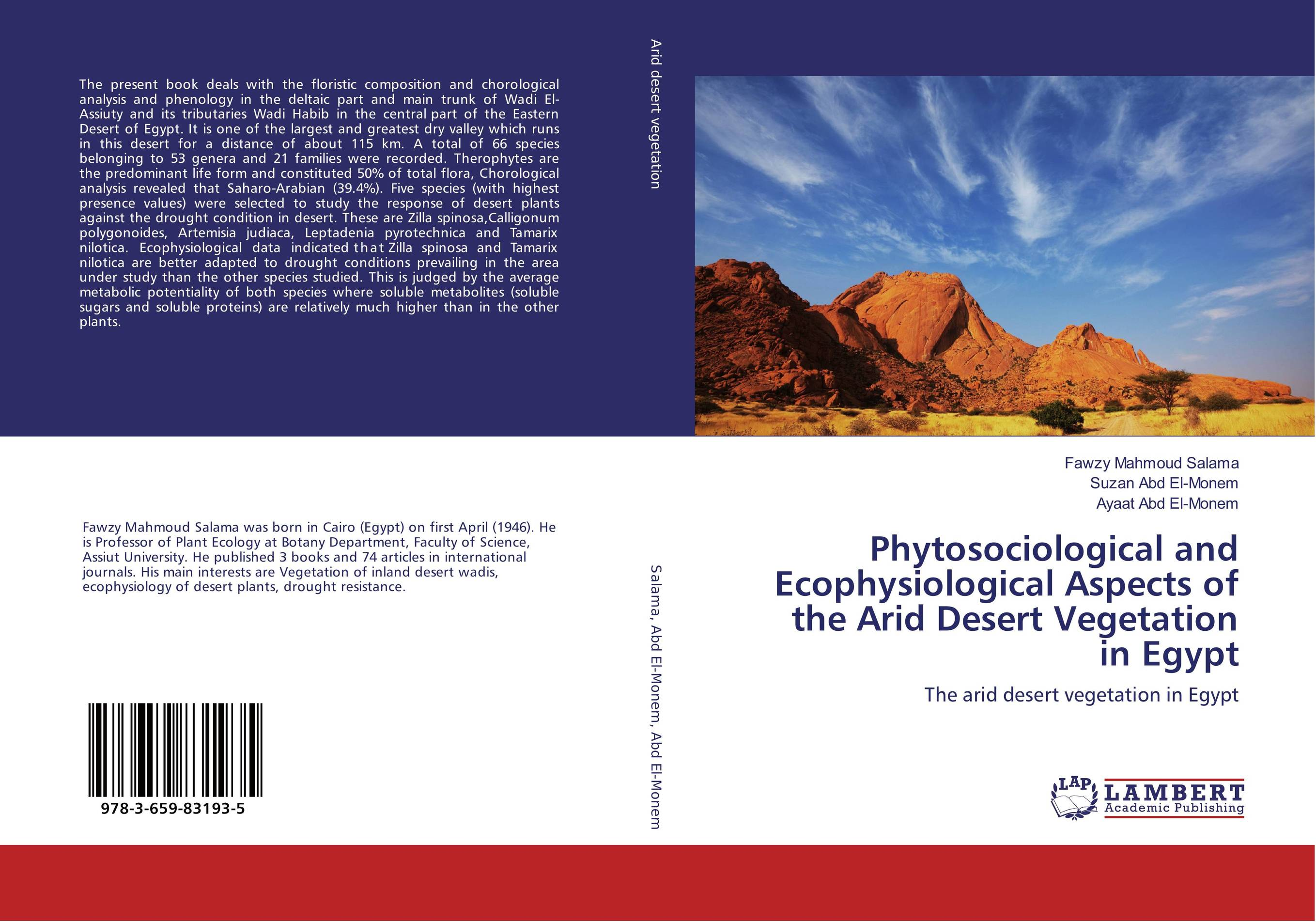 Phytosociological and Ecophysiological Aspects of the Arid Desert Vegetation in Egypt desert and the blade