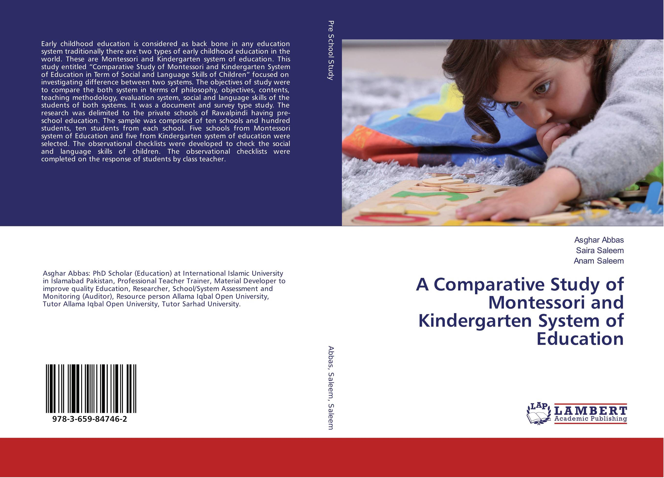 A Comparative Study of Montessori and Kindergarten System of Education religious education in comparative perspectives