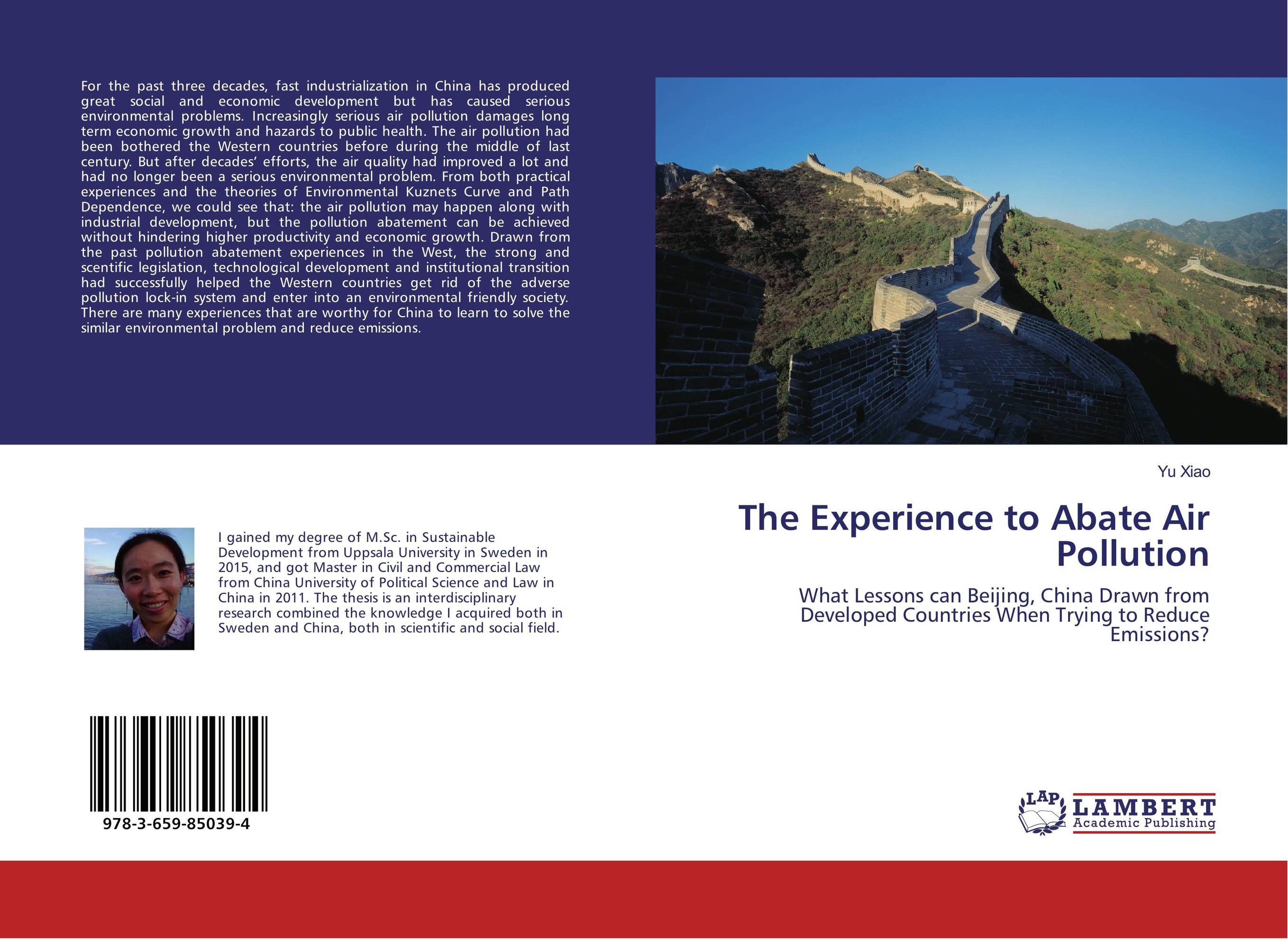 The Experience to Abate Air Pollution an introduction to environmental pollution