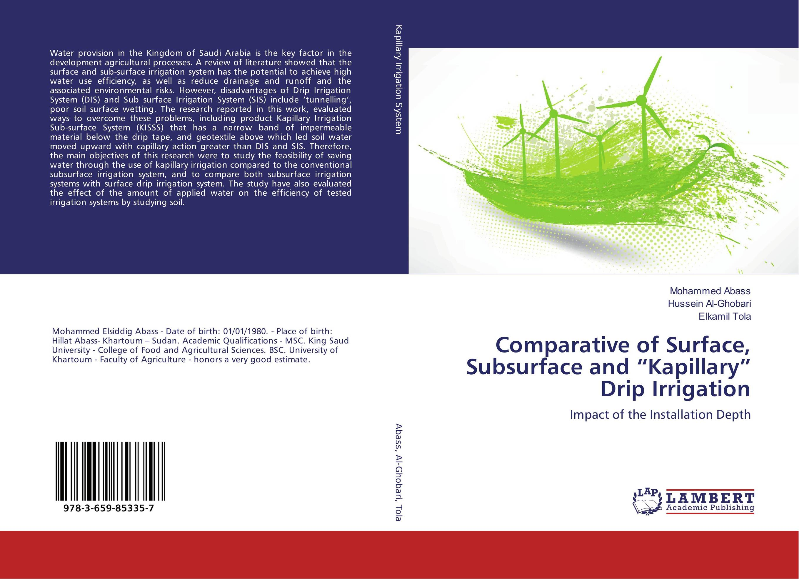 """Comparative of Surface, Subsurface and """"Kapillary"""" Drip Irrigation reforms in the irrigation system in punjab"""
