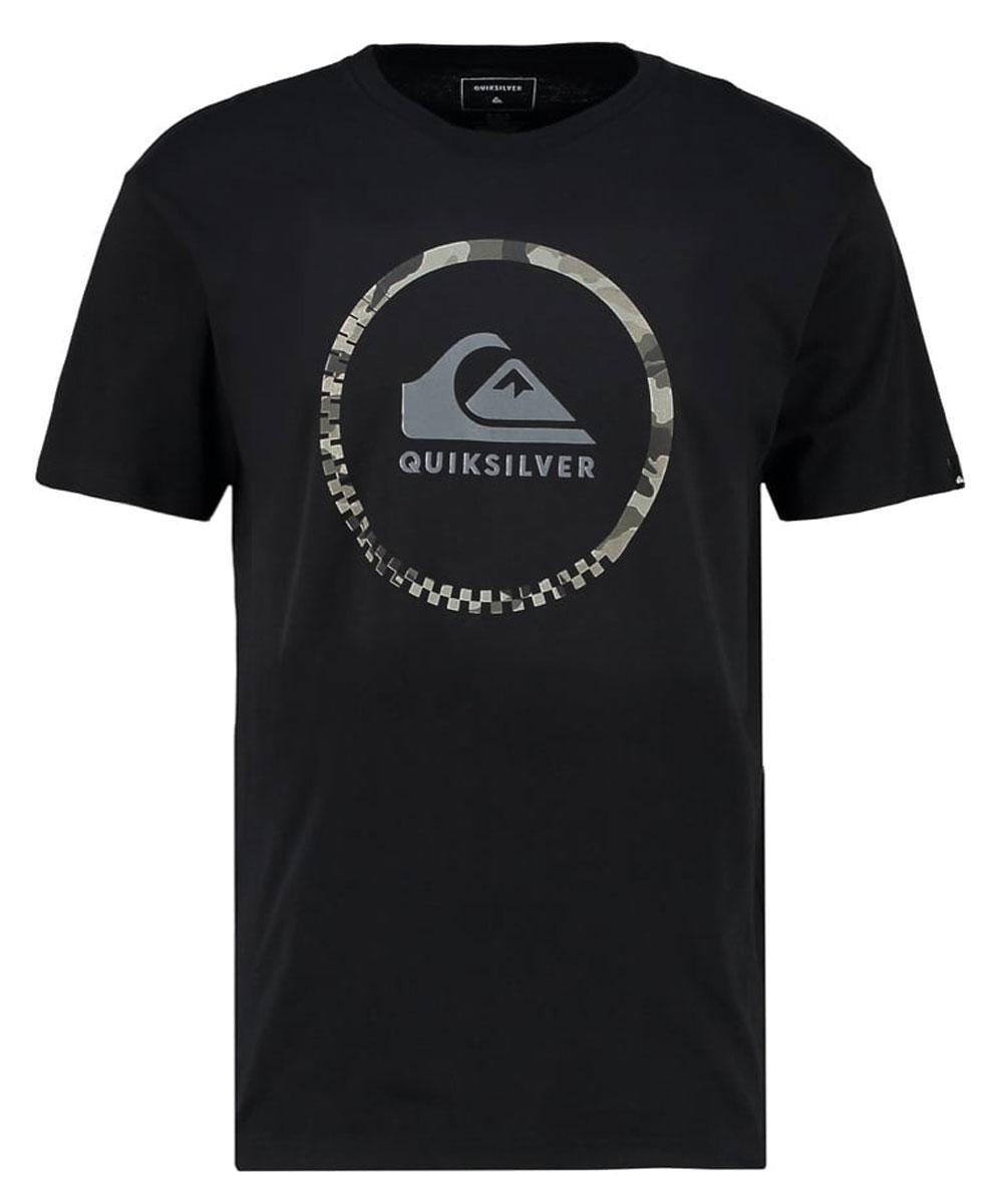 Футболка мужская Quiksilver, цвет: черный. EQYZT04285-KVJ0. Размер XL (54) футболка мужская quiksilver цвет белый eqyzt04285 wbb0 размер xxl 56