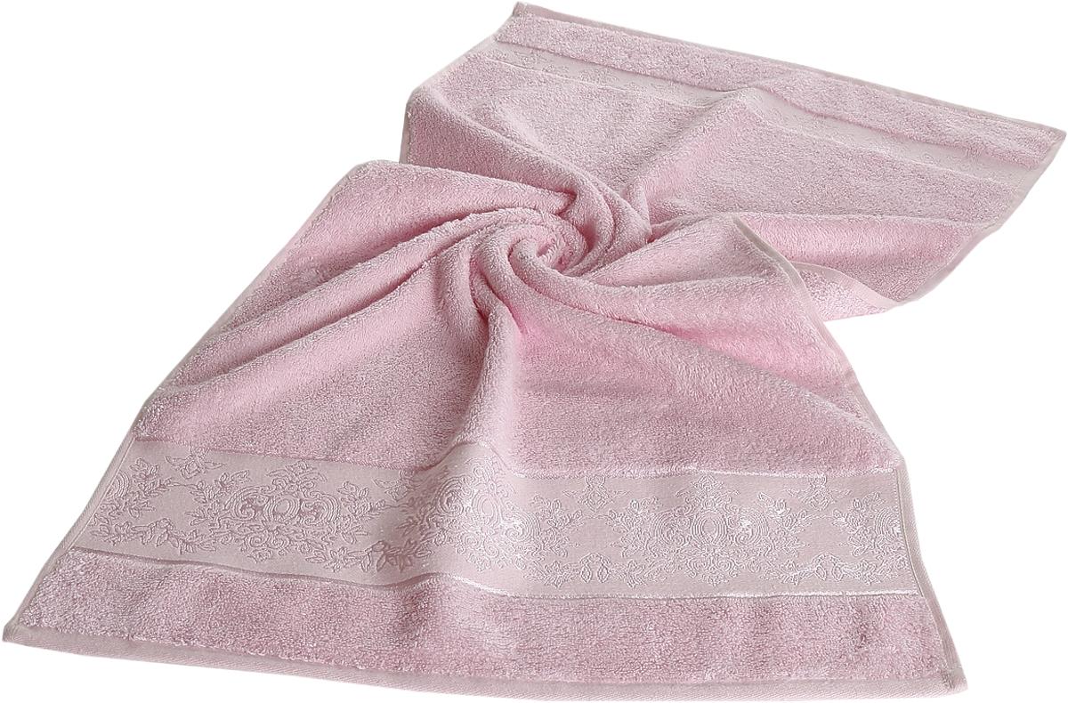 Полотенце бамбуковое Karna Pandora, цвет: светло-розовый, 70 х 140 см2157/CHAR006Полотенце идеально высушит вашу кожу. Мягкое на ощупь - оно подойдет и детям и взрослым. Красивый цвет долго будет вас радовать.