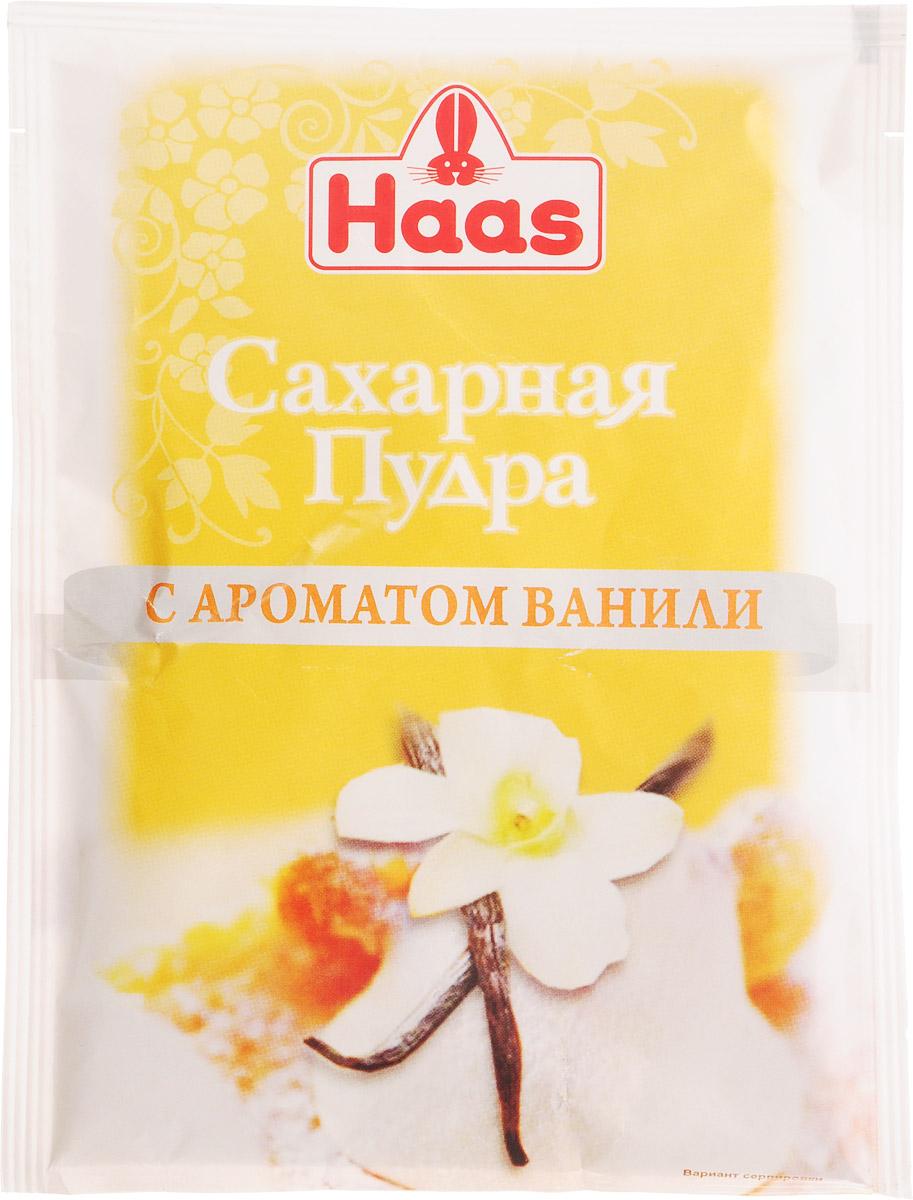 Haas сахарная пудра с ароматом ванили, 80 г