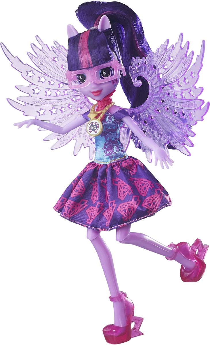 My Little Pony Equestria Girls Кукла Crystal Wings Twilight Sparkle куклы shibajuku girl shibajuku girls кукла 15см намика