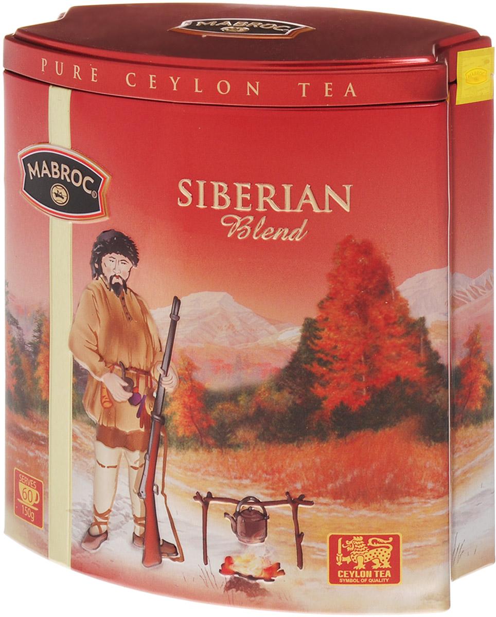 Mabroc Сибирская смесь чай черный листовой, 150 г4791029013145Чай Сибирская смесь производится из особых скрученных листьев чая, выращенных в восточном районе Шри-Ланки. Как только чай заварен, лист приобретает яркий медный цвет, что указывает на высокое качество чая. Чай отличается высокой крепостью и пользуется особым спросом у любителей по-настоящему крепких чаев.Знак в виде Льва с 17 пятнышками на шкуре - это гарантия Цейлонского Чайного Бюро на соответствие чая высокому стандарту качества, установленному Правительством и упакованному только в пределах Шри-Ланки.