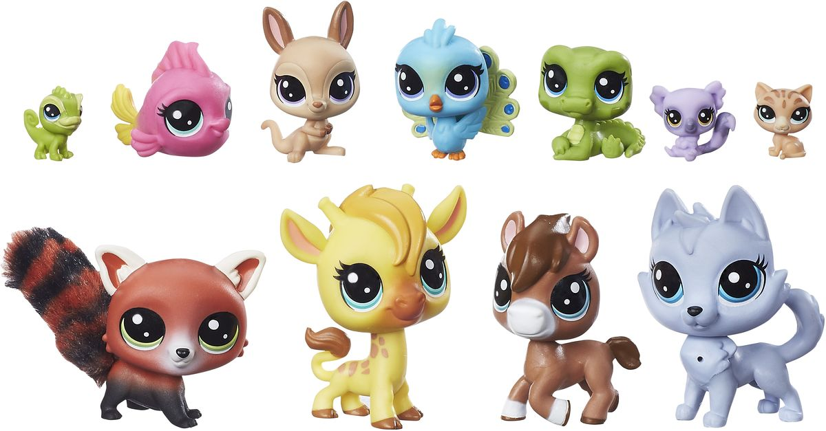 Littlest Pet Shop Набор фигурок Colorful Bunch