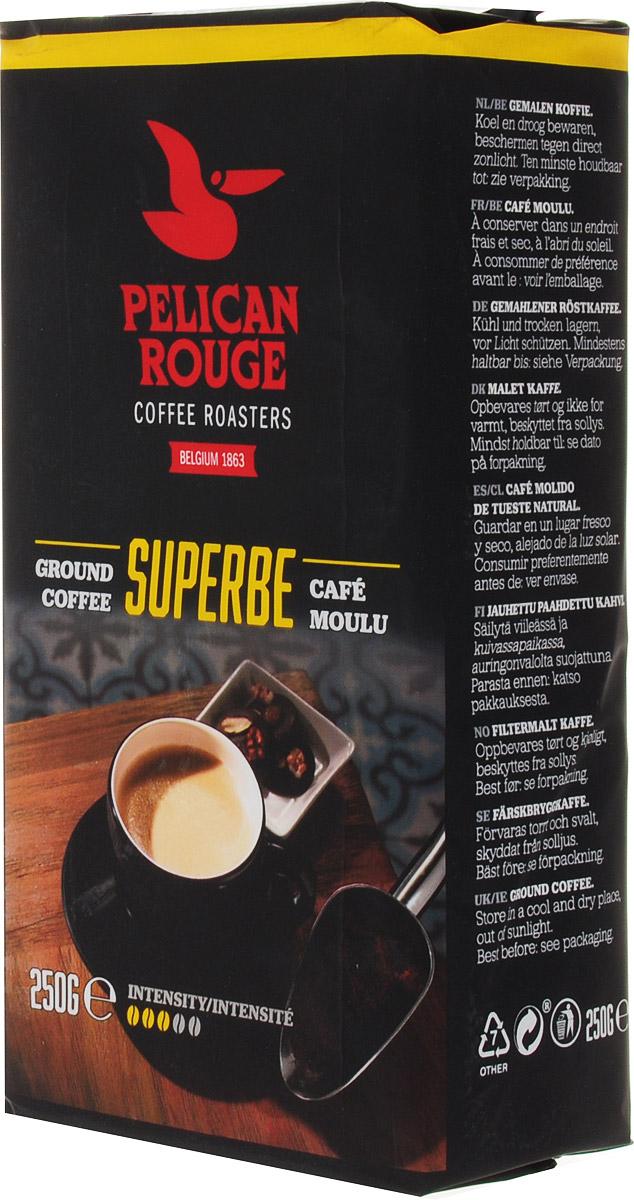 Pelican Rouge Superbe кофе молотый, 250 г5410958119016Молотый кофе Pelican Rouge Superbe - отлично сбалансированная темно обжаренная смесь. 80% Арабики и нотки лучших зерен Робусты придают этому кофе мягкое тело и послевкусие, напоминающее сливочную карамель. Хорошо подходит для приготовления фильтр-кофе.Кофе: мифы и факты. Статья OZON Гид