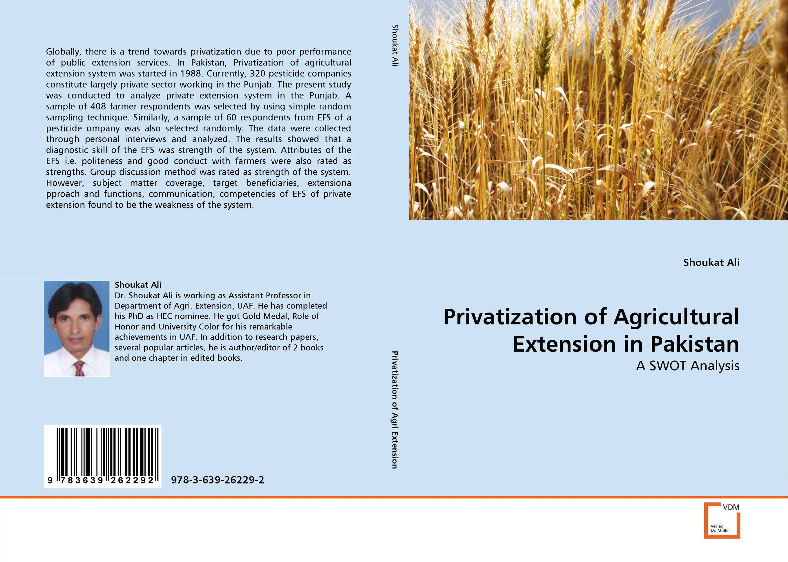 Privatization of Agricultural Extension in Pakistan crafting a more successful privatization policy