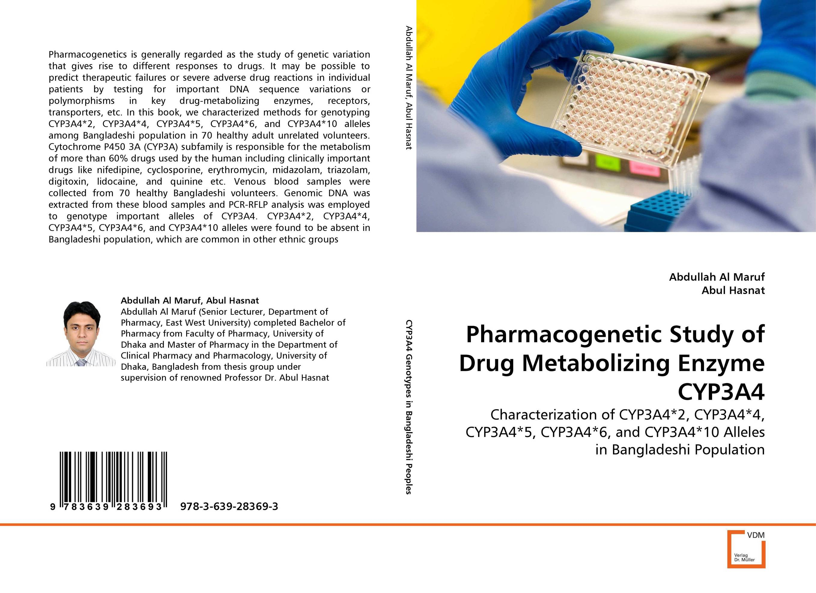 Pharmacogenetic Study of Drug Metabolizing Enzyme CYP3A4 using enzyme from novozyme