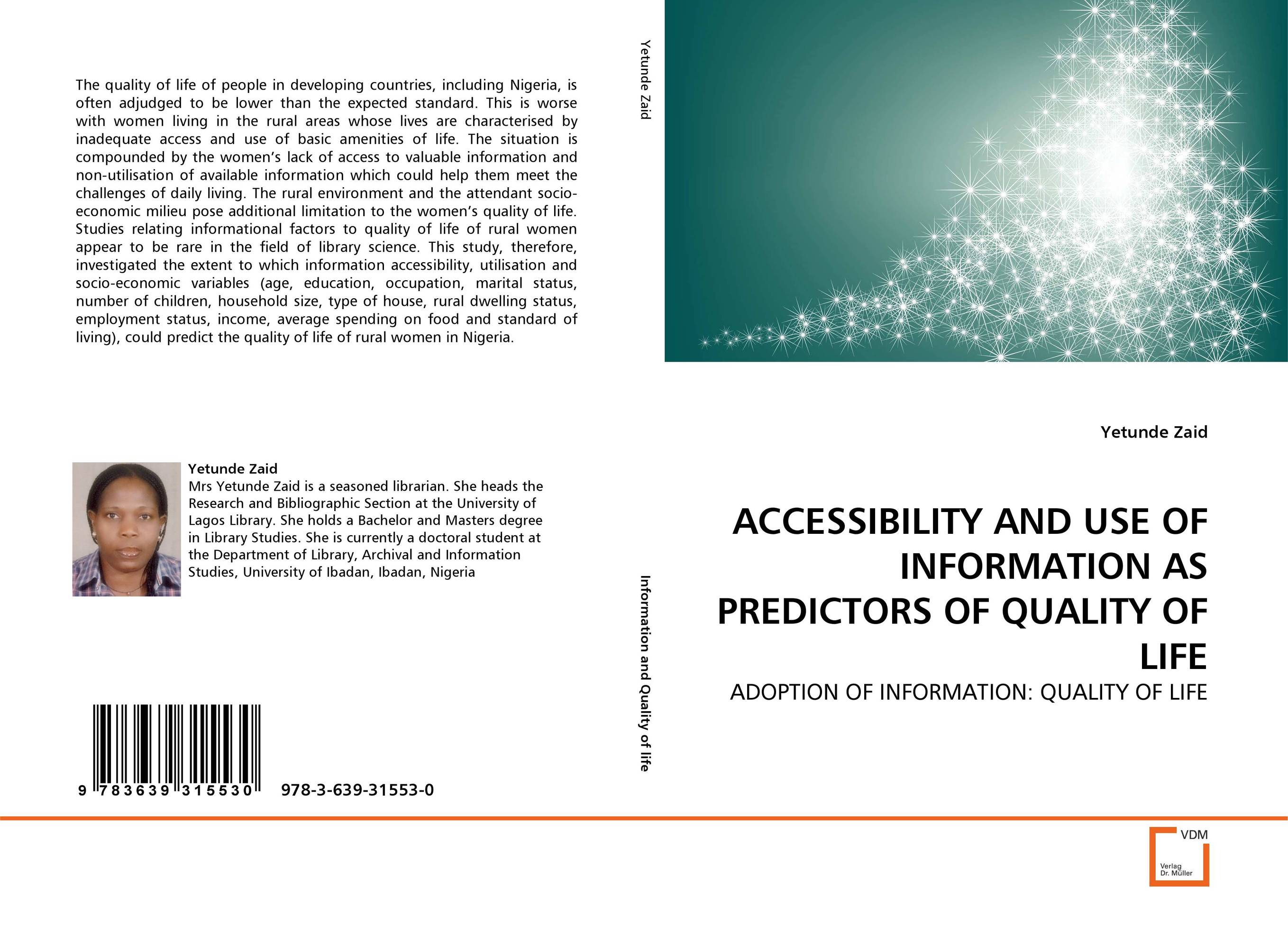 ACCESSIBILITY AND USE OF INFORMATION AS PREDICTORS OF QUALITY OF LIFE measles immunity status of children in kano nigeria