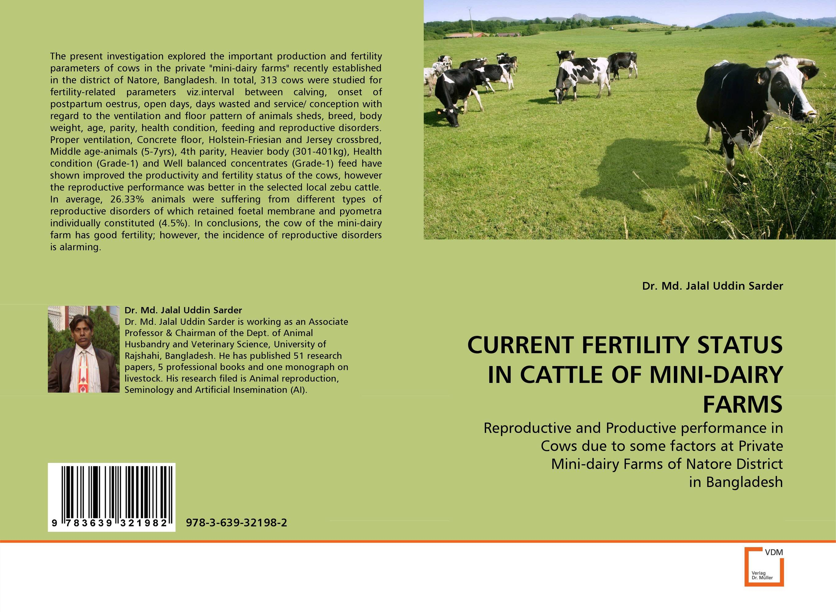 CURRENT FERTILITY STATUS IN CATTLE OF MINI-DAIRY FARMS paramjit singh and kennath j arul temporomandibular joint in health and disorders