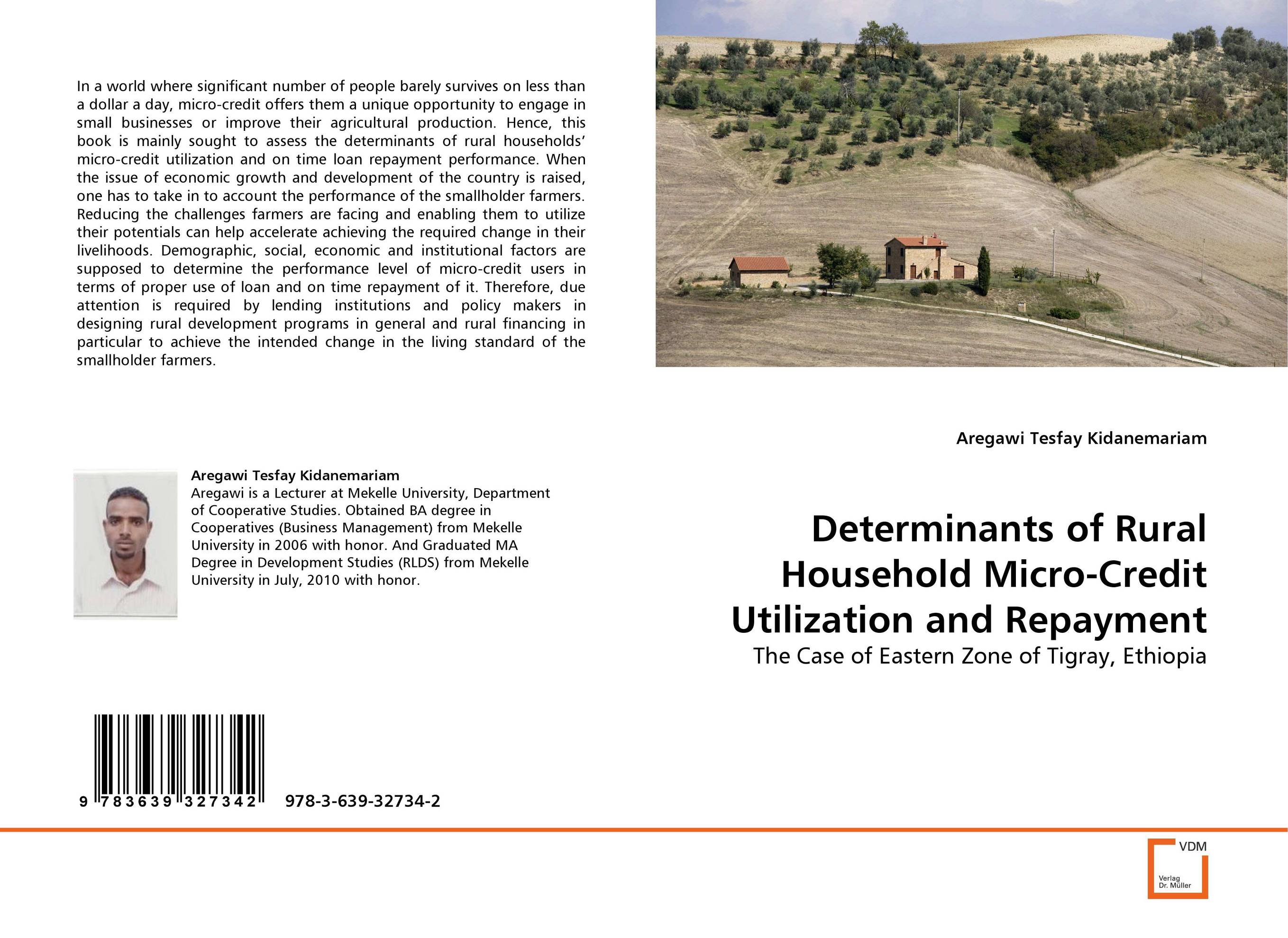 Determinants of Rural Household Micro-Credit Utilization and Repayment sikhulumile sinyolo smallholder irrigation water security and rural household welfare