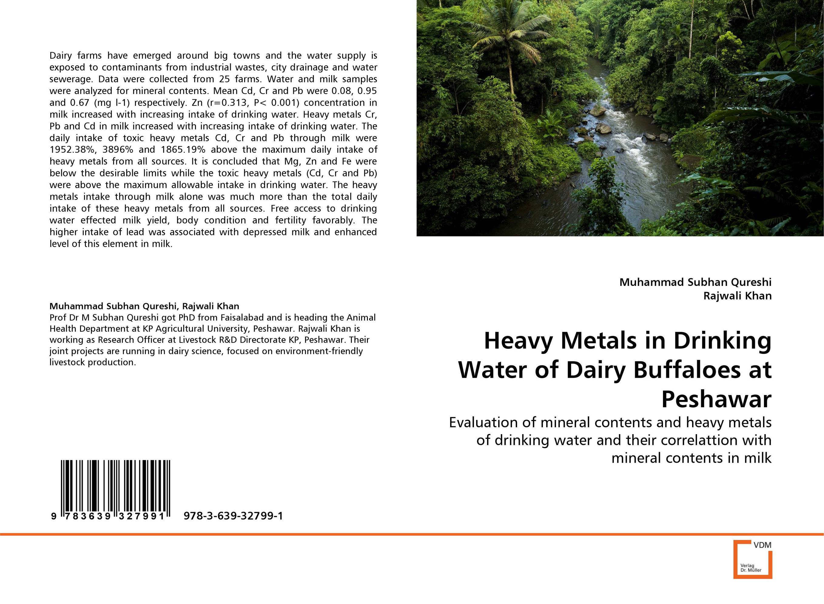 Heavy Metals in Drinking Water of Dairy Buffaloes at Peshawar current fertility status in cattle of mini dairy farms