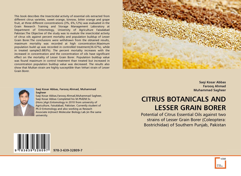 CITRUS BOTANICALS AND LESSER GRAIN BORER tissue culture of citrus reticulata blanco kinnow