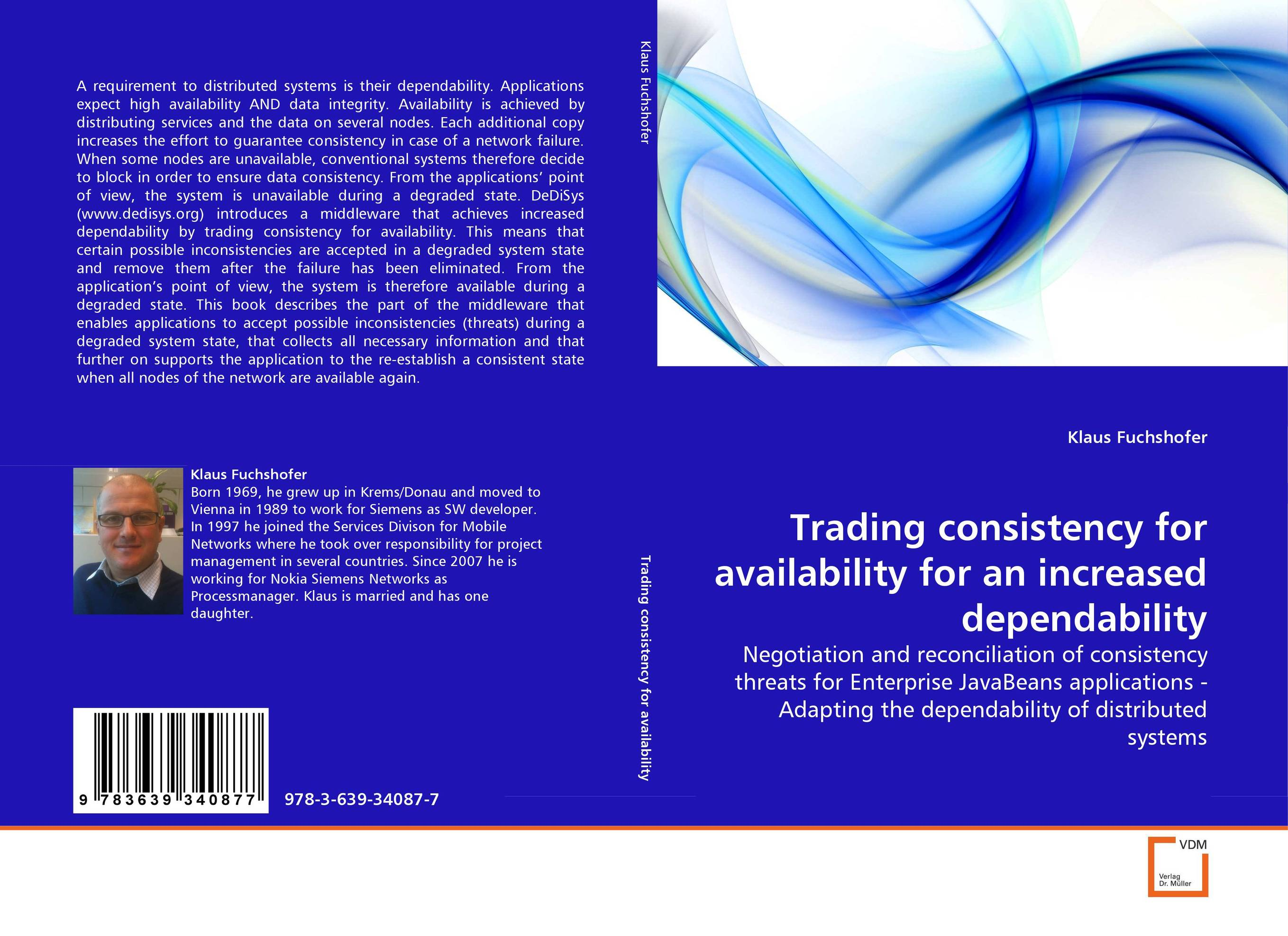 Trading consistency for availability for an increased dependability affair of state an