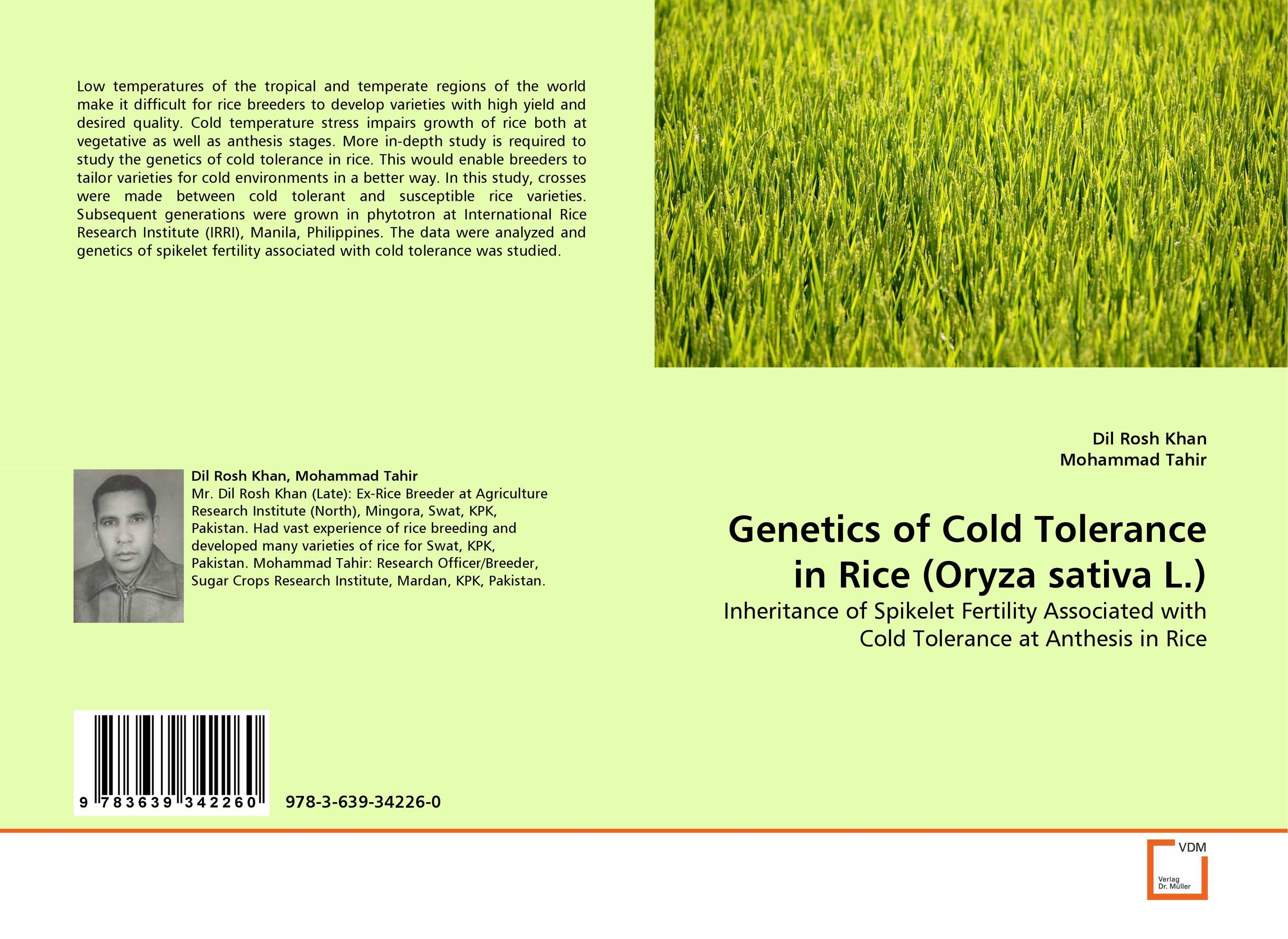 Genetics of Cold Tolerance in Rice (Oryza sativa L.) sanjeev kumar kiran pathania and pawan kumar sharma breeding of rice oryza sativa l