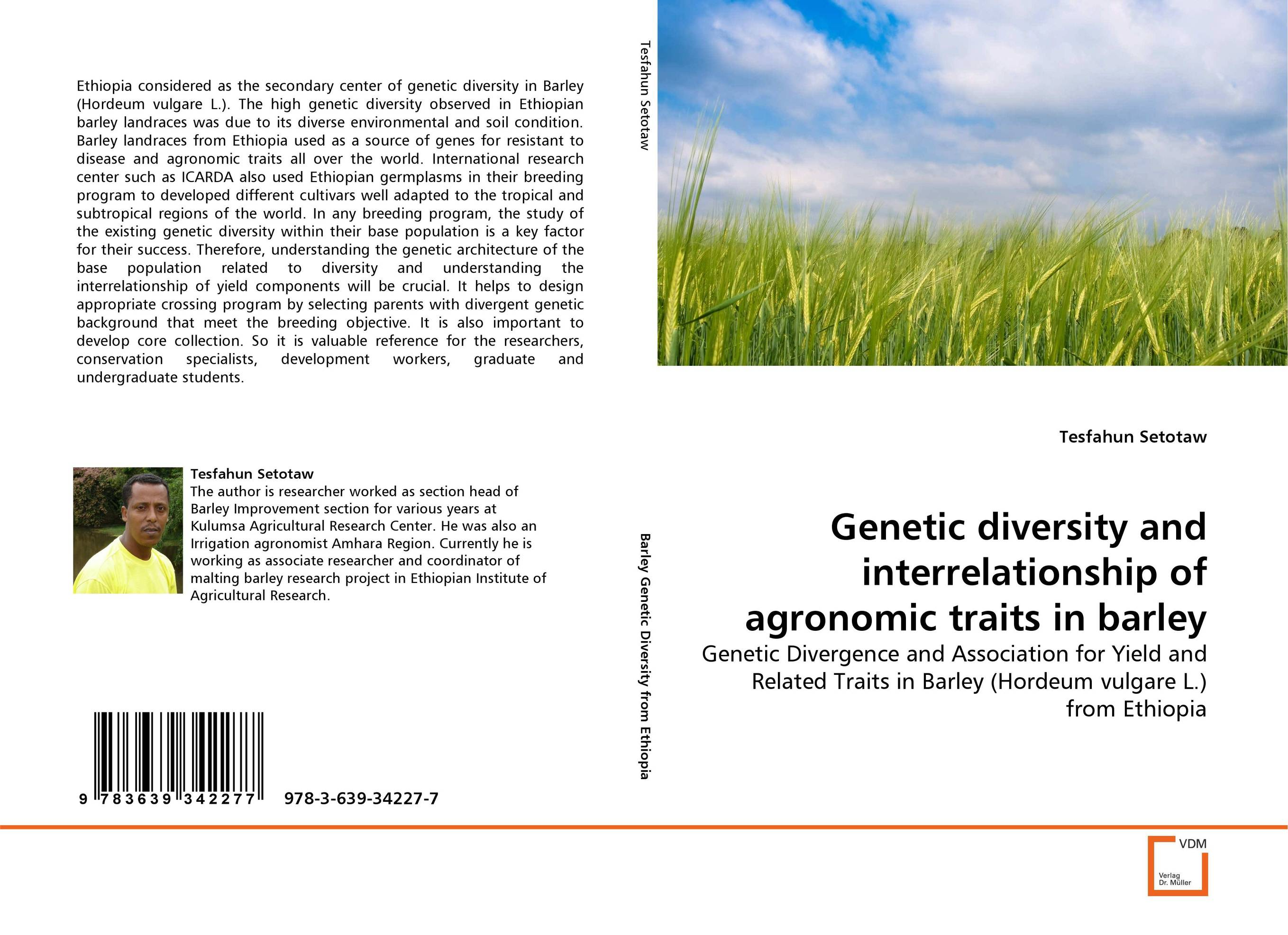 Genetic diversity and interrelationship of agronomic traits in barley butterflies in the barley