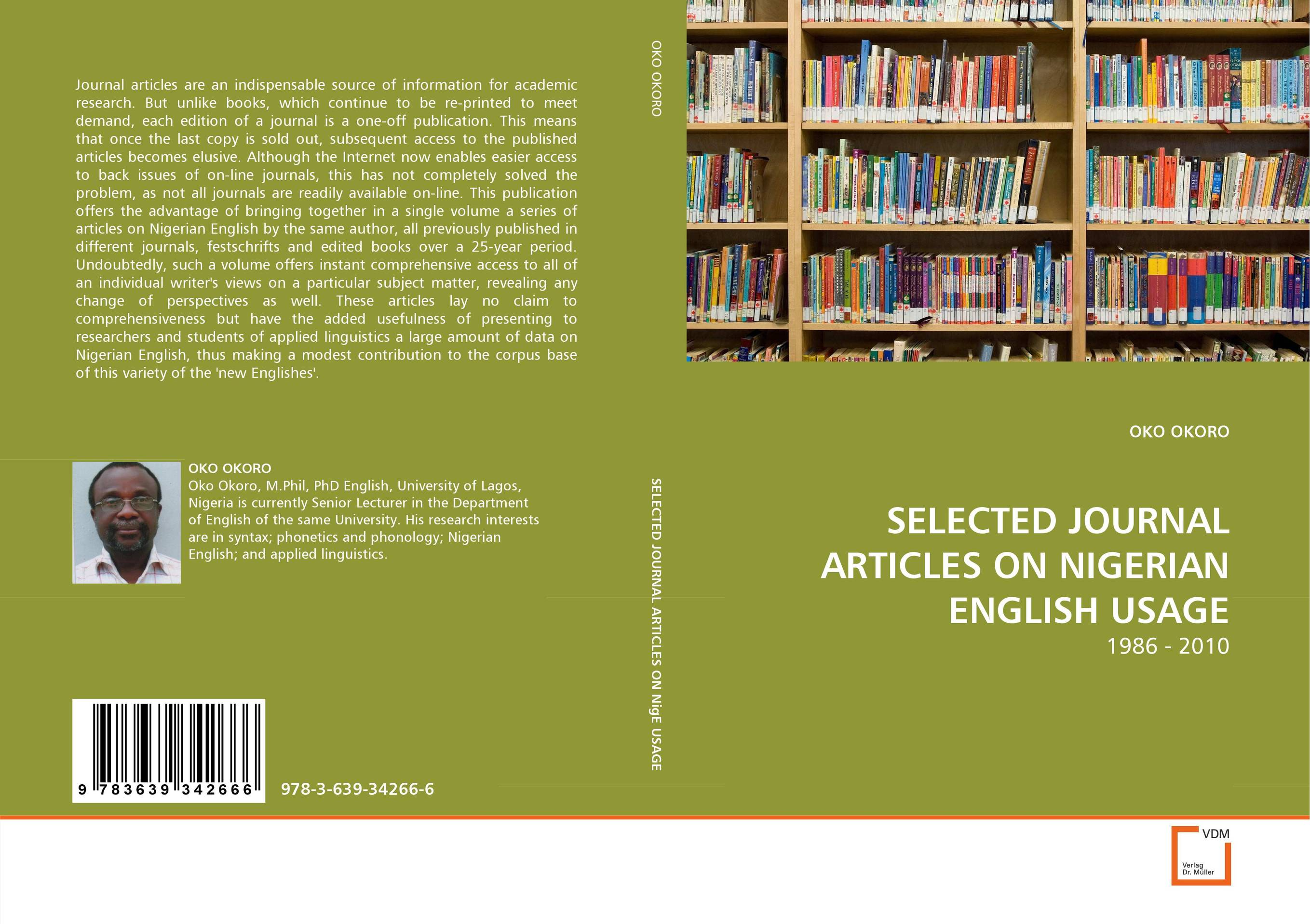 SELECTED JOURNAL ARTICLES ON NIGERIAN ENGLISH USAGE