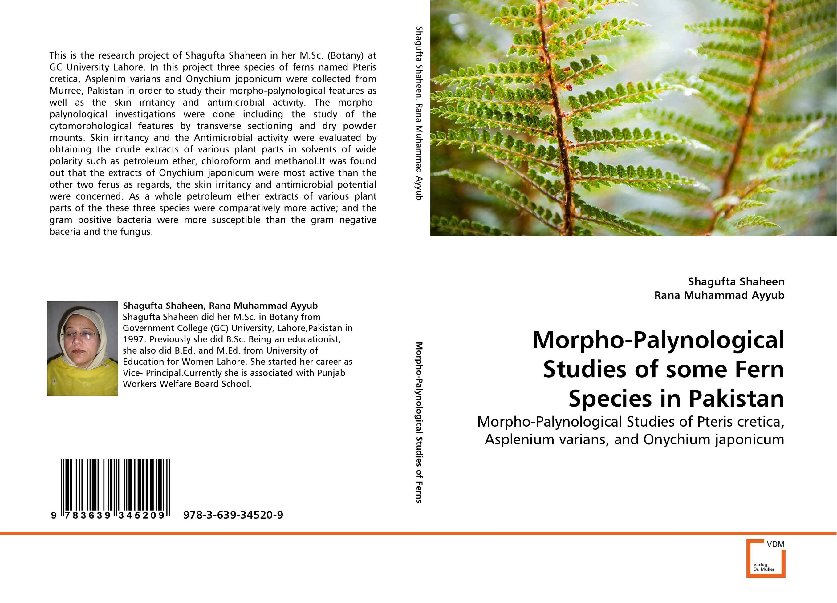 Morpho-Palynological Studies of some Fern Species in Pakistan тоник anariti skin tonic with extracts of aloe and rose